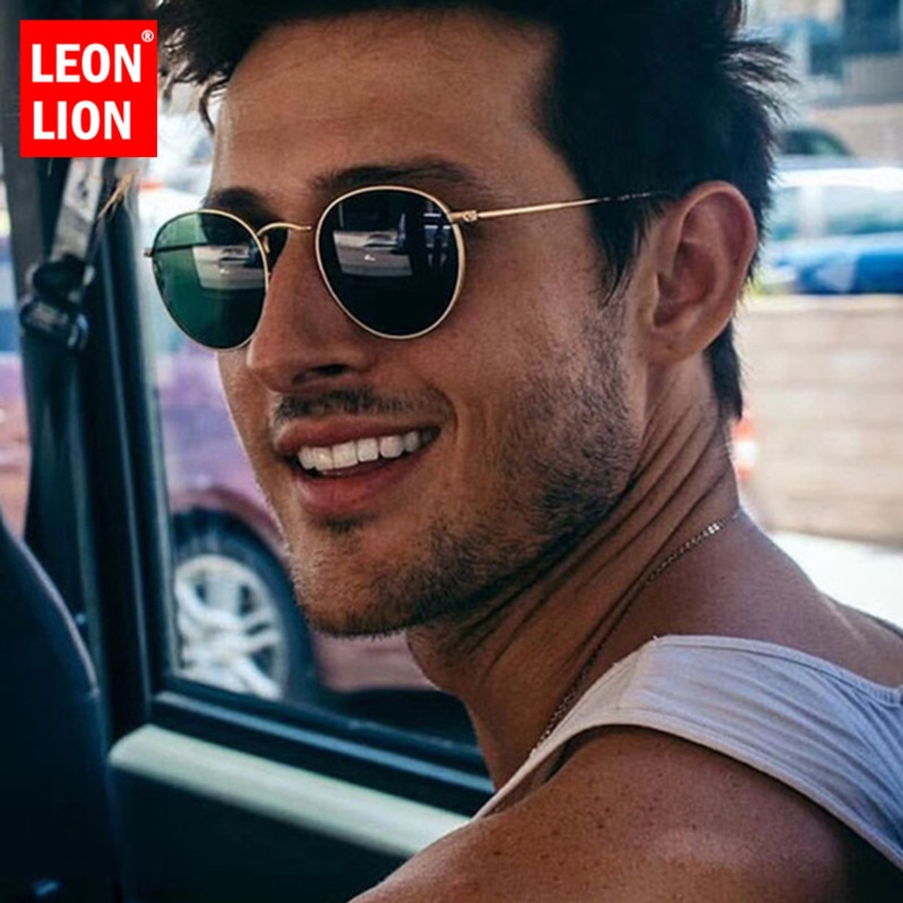 9be1c59c5a LeonLion 2019 Metal Round Vintage Sunglasses Women Mirror Classic Retro Street  Beat Glasses Men Glasses Driving ...