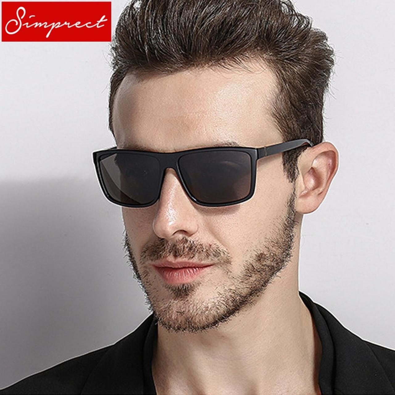 89ad2e10ccd SIMPRECT 2019 Square Polarized Sunglasses Men UV400 High Quality Driving  Mirror Sun Glasses Vintage Lunette De Soleil Homme - OnshopDeals.Com