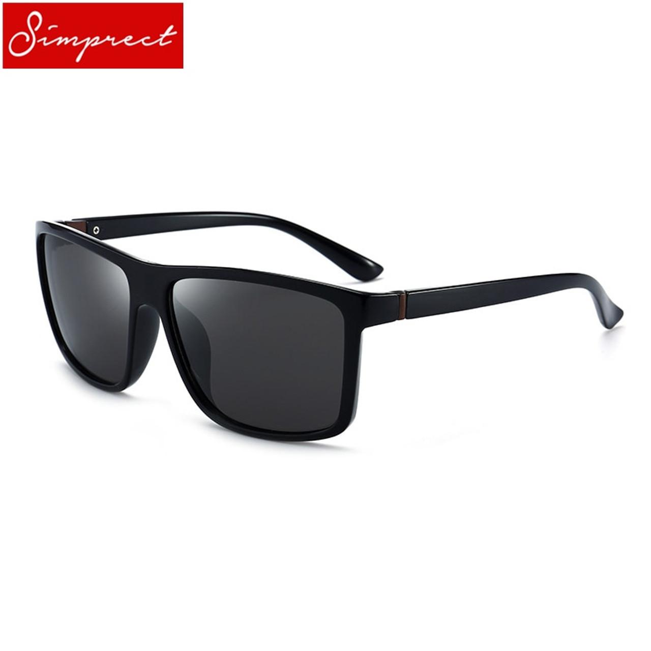 93c6f4380b519e ... SIMPRECT 2019 Square Polarized Sunglasses Men UV400 High Quality Driving  Mirror Sun Glasses Vintage Lunette De ...