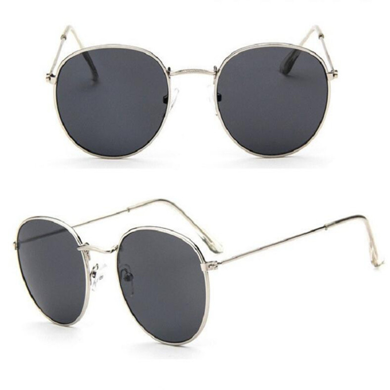 091bb2c79468 ... Luxury Brand Design Round Sunglasses Women Men Brand Designer Vintage  Retro Mirror Sun Glasses For Women ...