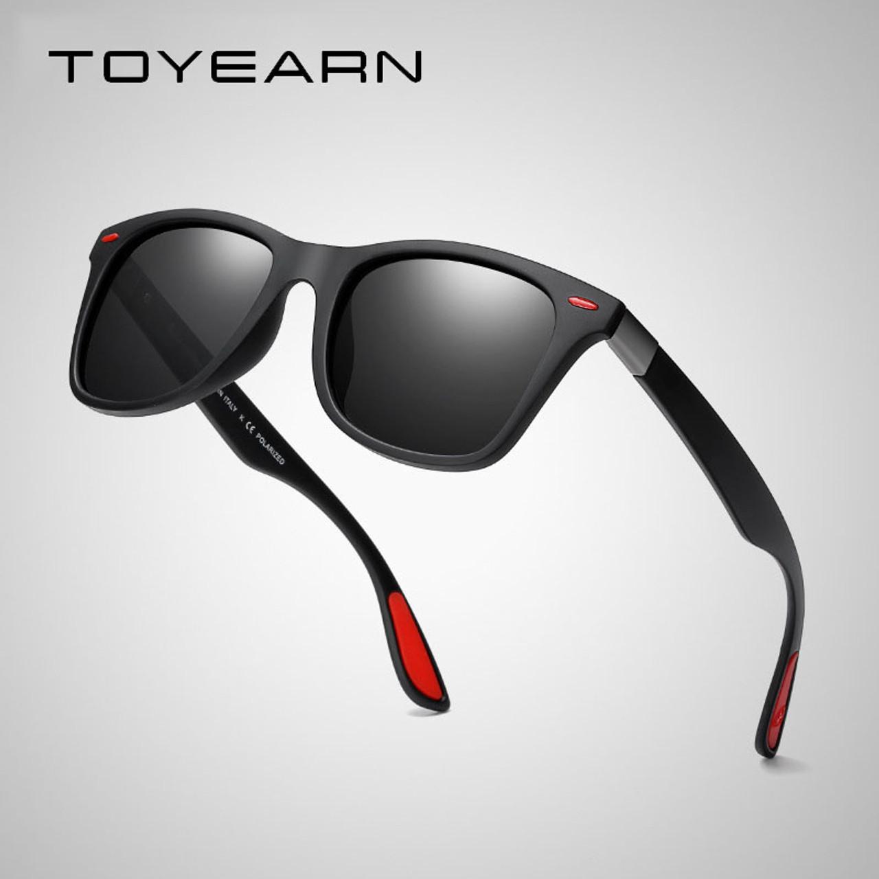 e4428a2a10 ... TOYEARN Classic Square Polarized Sunglasses Men Women Brand Designer  Vintage Driving Goggle Rivet Mirror Male Sun ...