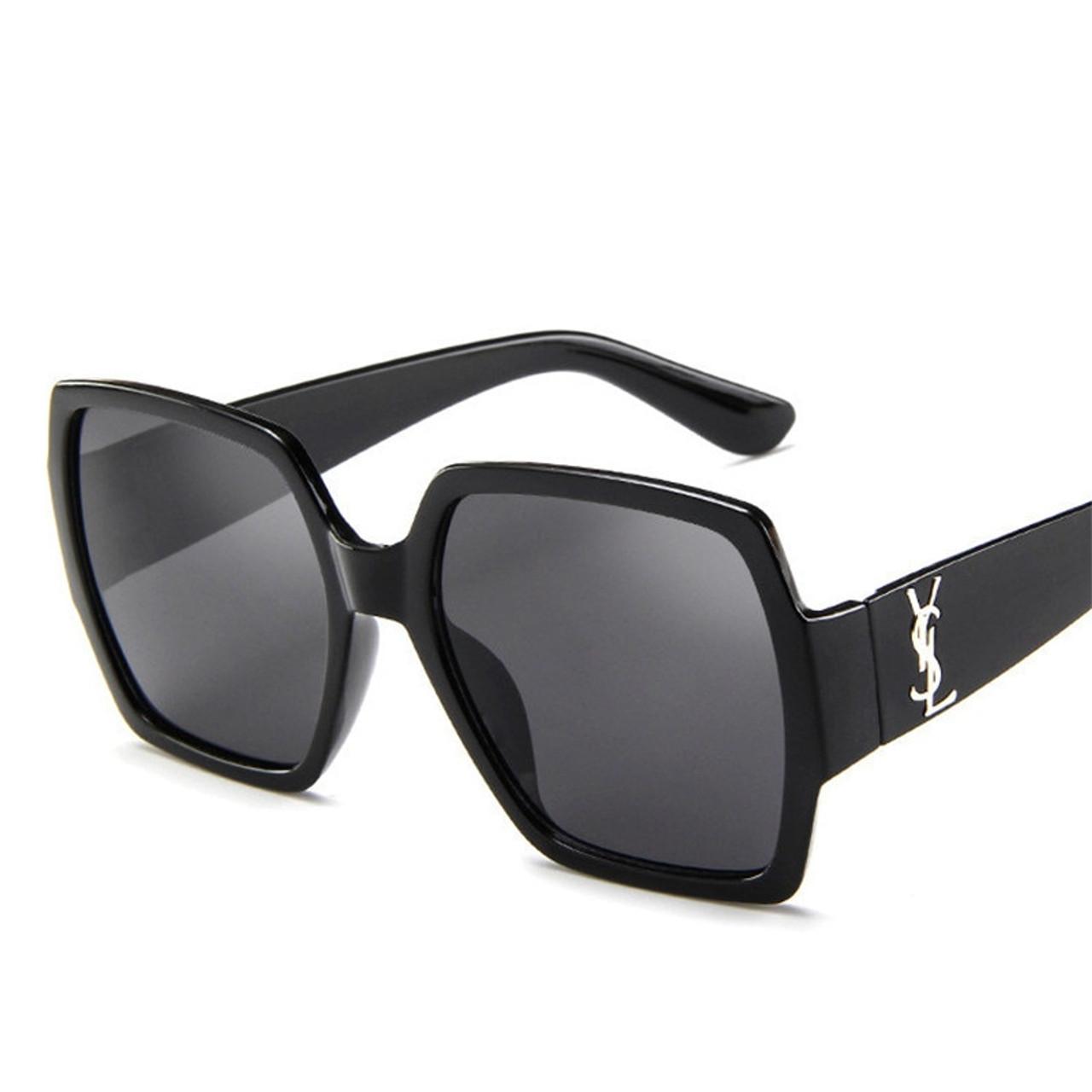 c357fb7e86 ... Oversized Sunglasses Women Big Frame Square Sun Glasses Men Brand  Designer 2019 New Vintage Gradient Shades ...