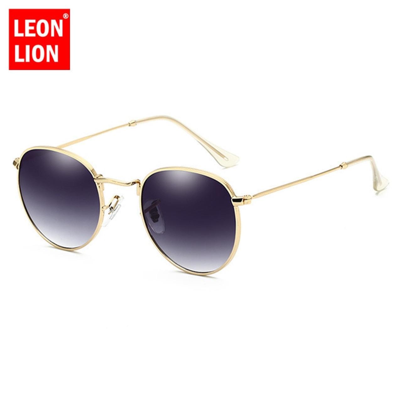 4946fc3254 ... LeonLion 2018 Luxury Mirror Sunglasses Women Men Brand Designer Glasses  Lady Round Sun Glasses Street ...