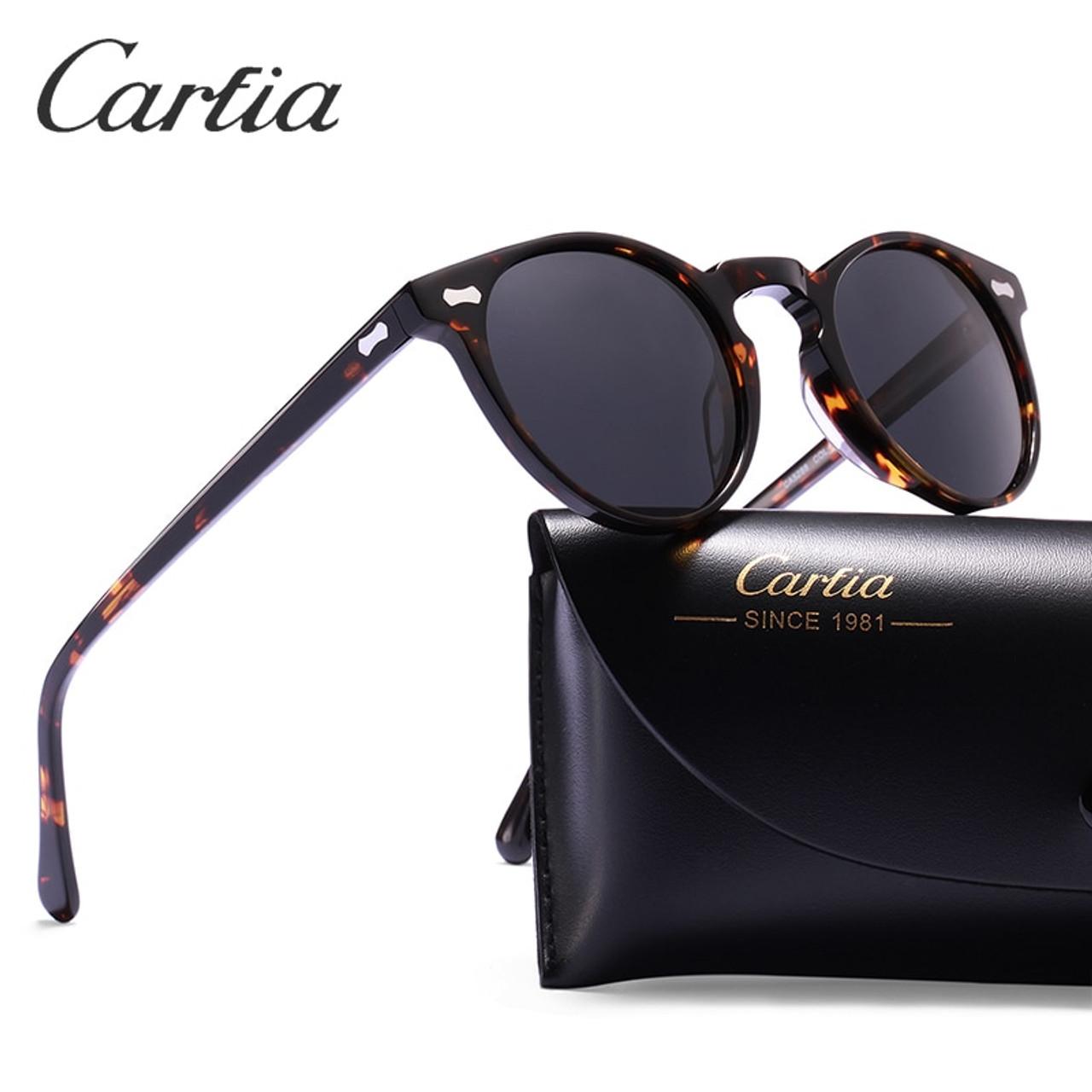 3e26c3d553 Carfia Polarized Sunglasses Classical Brand Designer Gregory Peck Vintage  Sunglasses Men Women Round Sun Glasses 100% UV400 5288 - OnshopDeals.Com