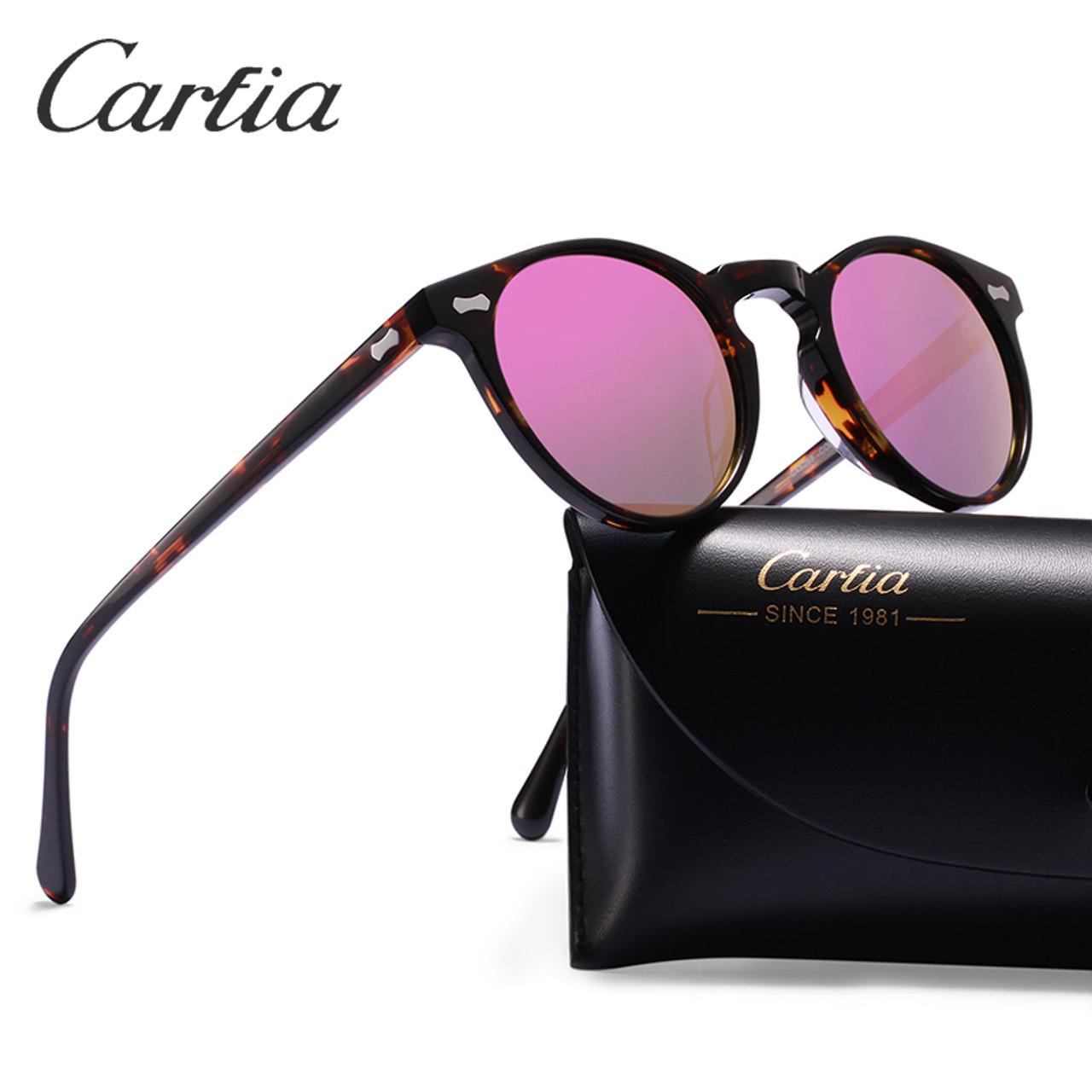 642b8da44b ... Carfia Polarized Sunglasses Classical Brand Designer Gregory Peck  Vintage Sunglasses Men Women Round Sun Glasses 100 ...