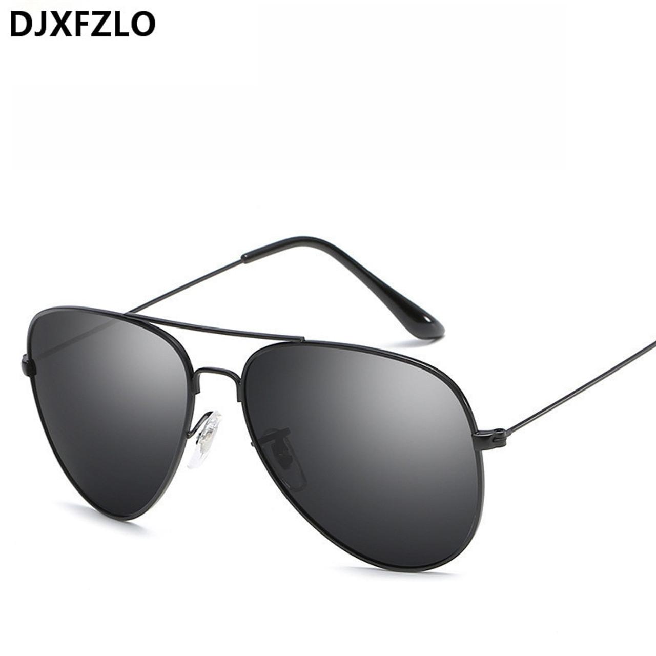 7a04599c7b87 ... DJXFZLO Vintage Classic Sunglasses Women Men Brand Designer Men s Pilot  Driving Mirror Sun Glasses Female Oculos ...