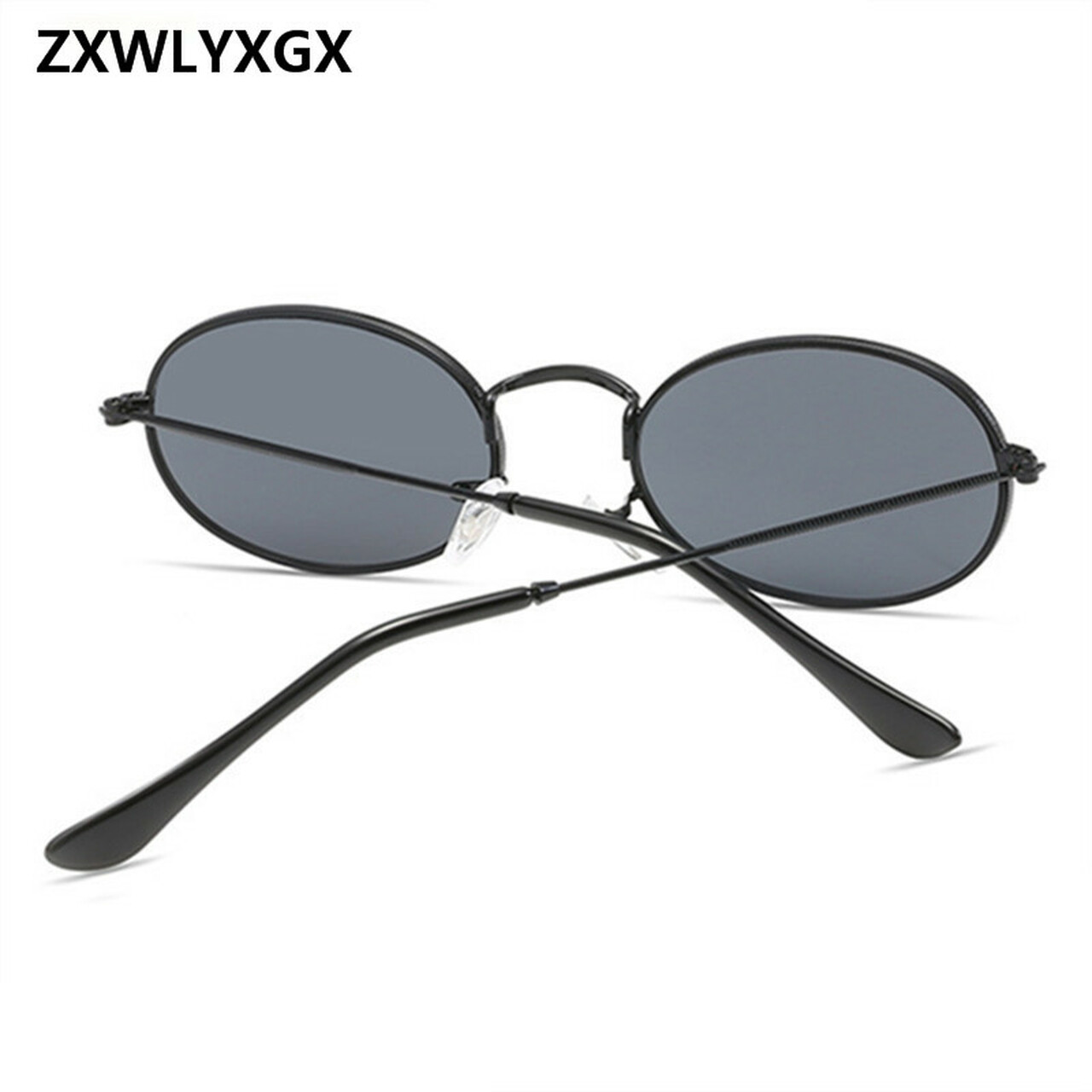 413d5adc73 ... ZXWLYXGX 2018 Vintage Oval Small Metal Frame Steampunk Sunglasses Men  Women New Fashion Sun Glasses Female ...