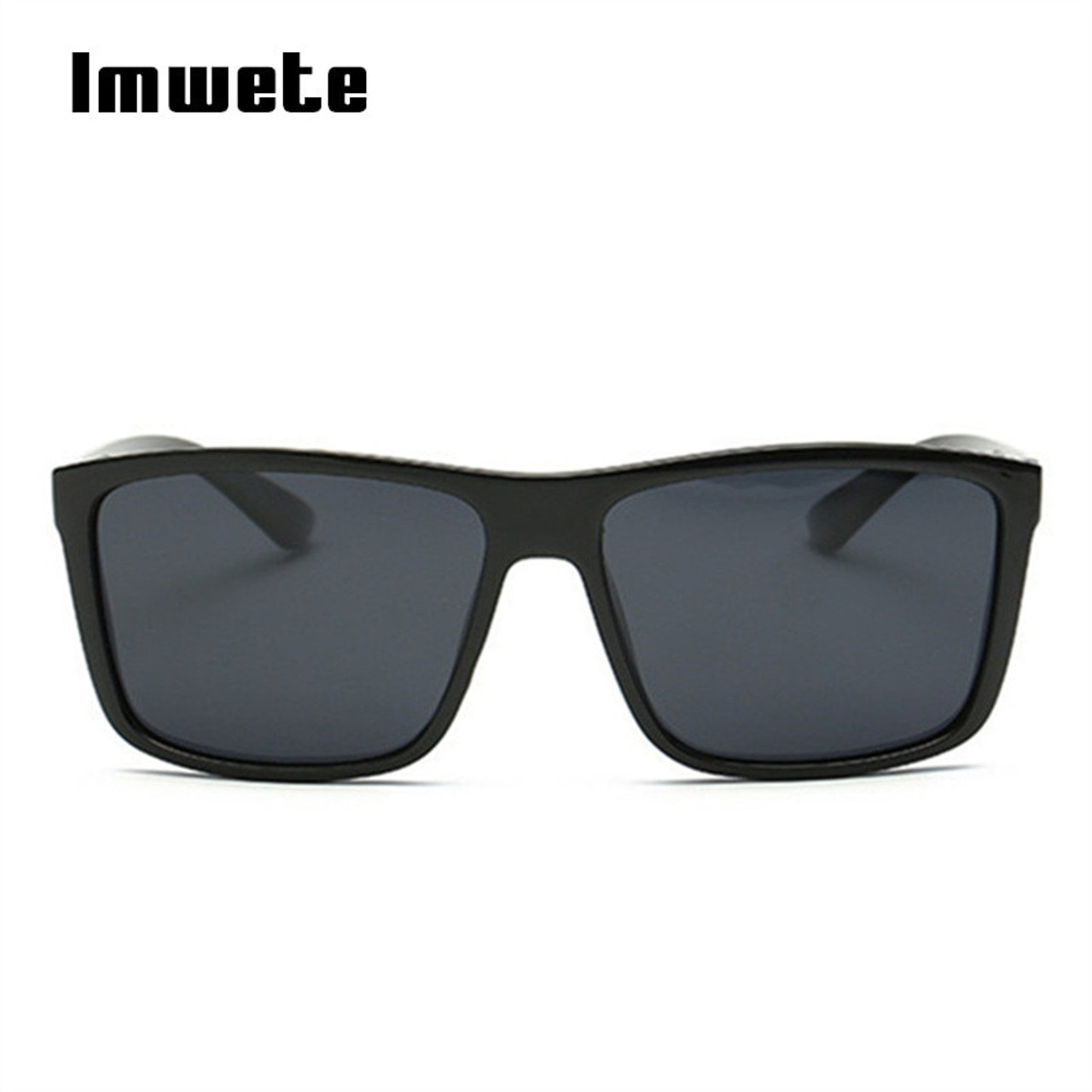DESIGNER CLASSIC POLARIZED SUNGLASSES BLACK LARGE RETRO VINTAGE UV MENS LADIES