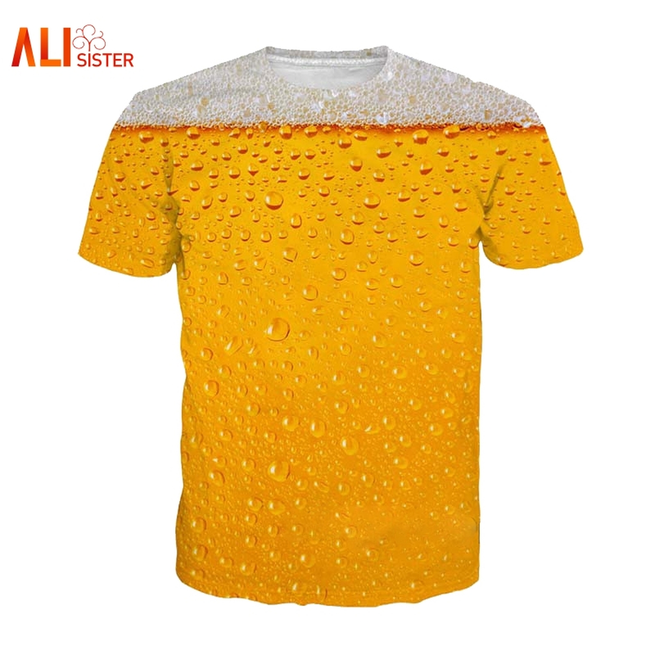16948efe4 Alisister Beer Print T Shirt It's Time Letter Women Men Funny Novelty T- shirt Short ...