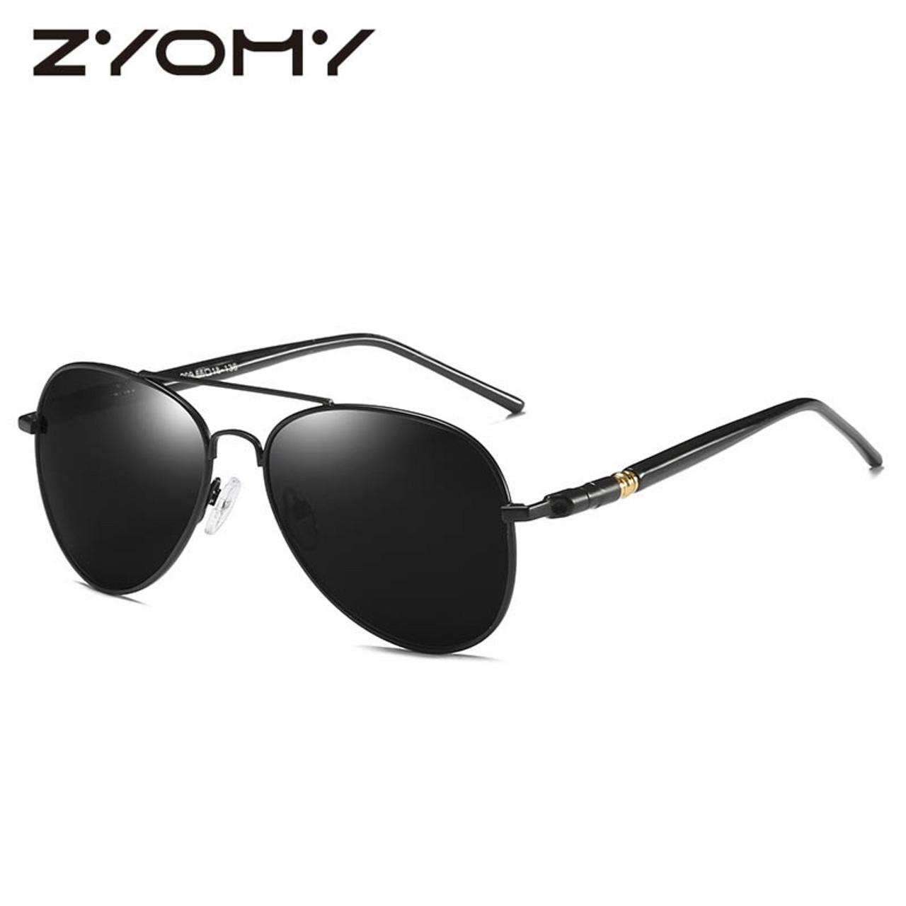563b6c77f46ca Brand Designer Driving Goggles Polarized Oculos de sol UV400 Gafas Metal  Frame Male Shades Toad Lens ...