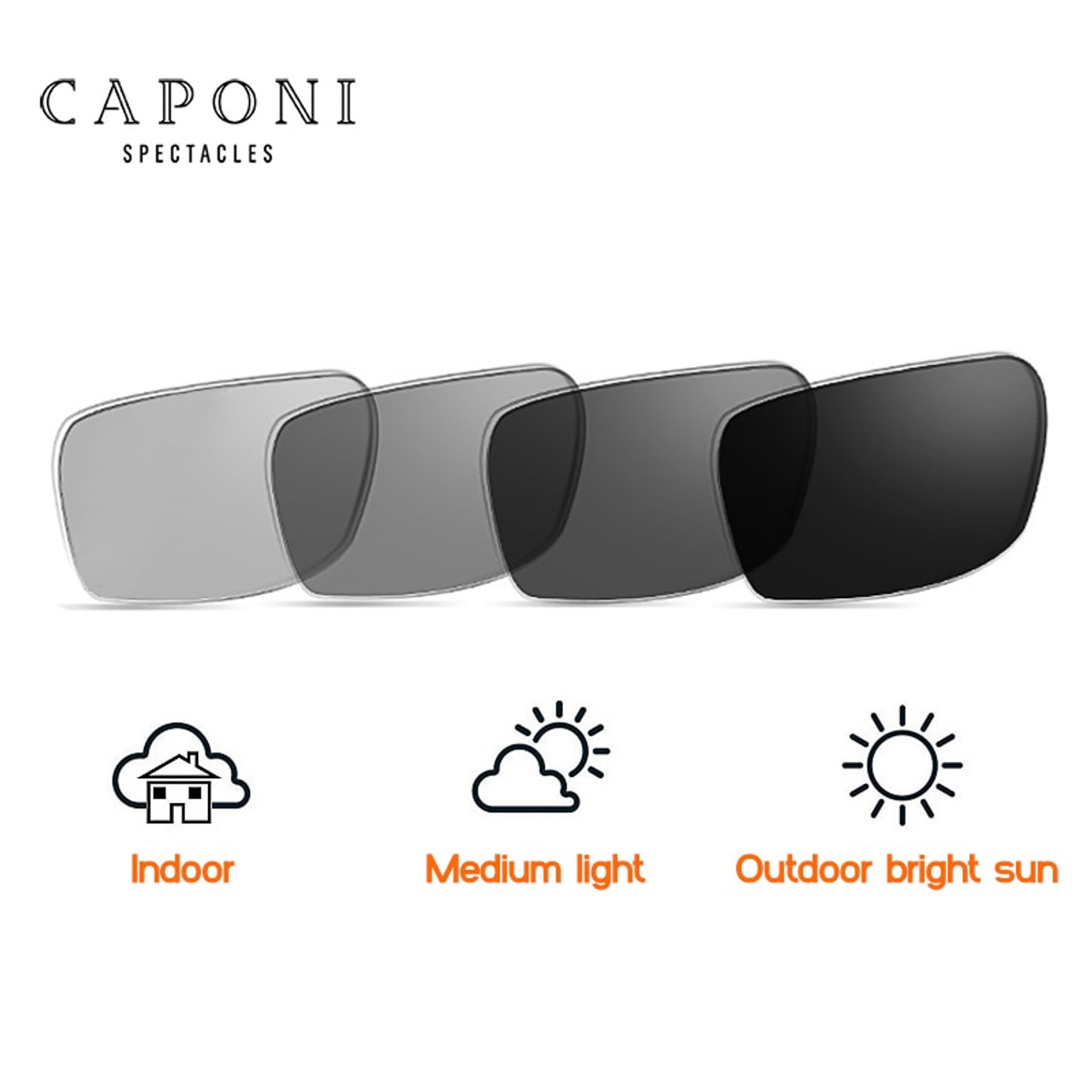 ... Caponi Driving Photochromic Sunglasses Men Polarized Chameleon  Discoloration Sun glasses for men oculos de sol masculino ... ca3770a844