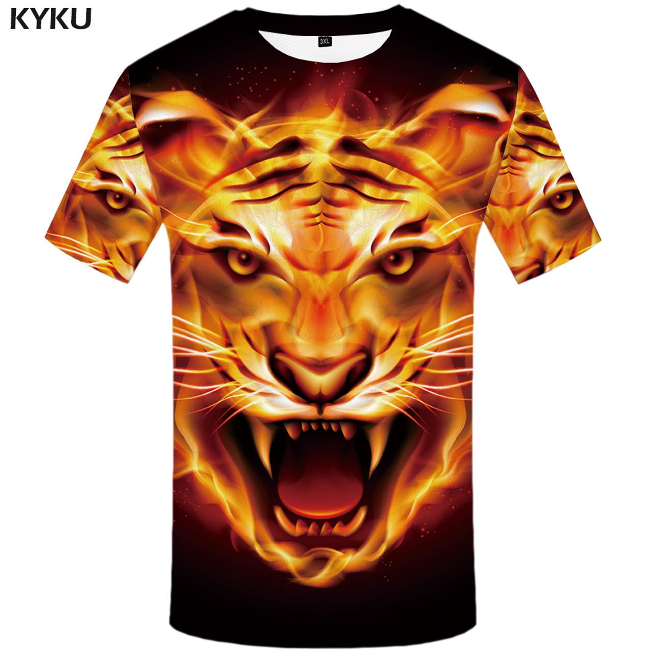 7dcfecd1b11f ... KYKU Brand 3d T-shirt Animal Lion Shirt Camiseta 3d T Shirt Men Funny T  ...