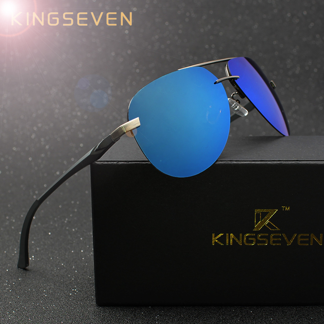 536c5e6aa39 KINGSEVEN Aluminum Magnesium Polarized Sunglasses Men Driver Mirror Sun  glasses Male Fishing Female Eyewear For Men ...