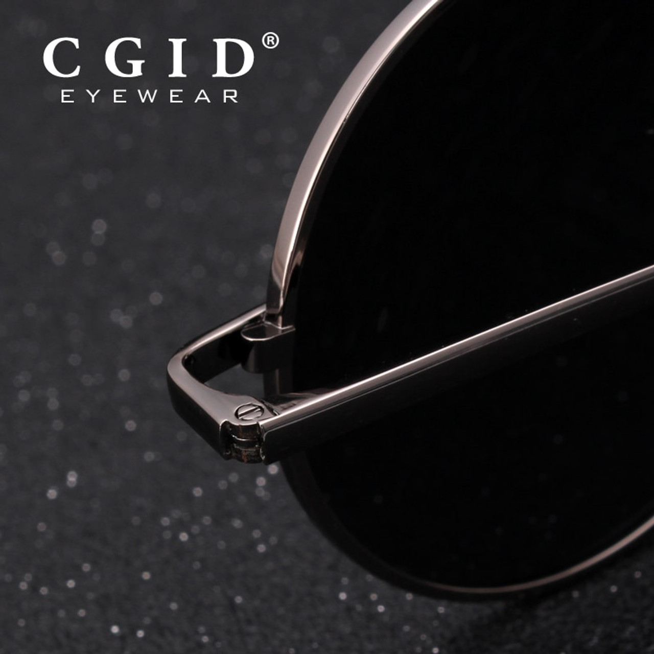 b020567cc5a ... CGID 2018 Round Lennon Sunglasses Polarized Retro Vintage Inspired  Metal Circle Black Sun glasses for Men ...