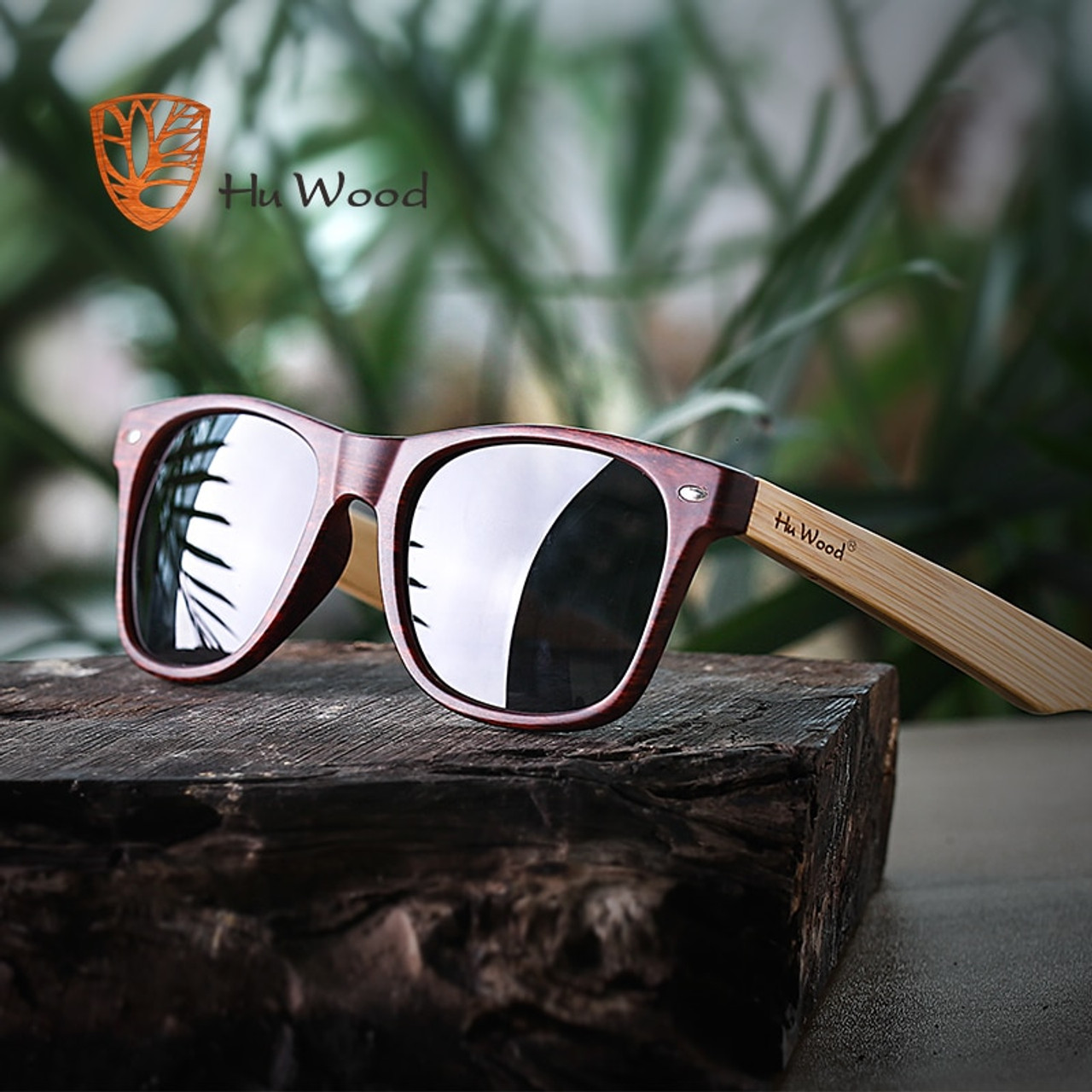 f5cc7a24e3929 HU WOOD 2018 DESIGN Men Women Classic Retro Rivet Polarized Sunglasses 100% UV  Protection bamboo Sun Glasses GRS8004 - OnshopDeals.Com