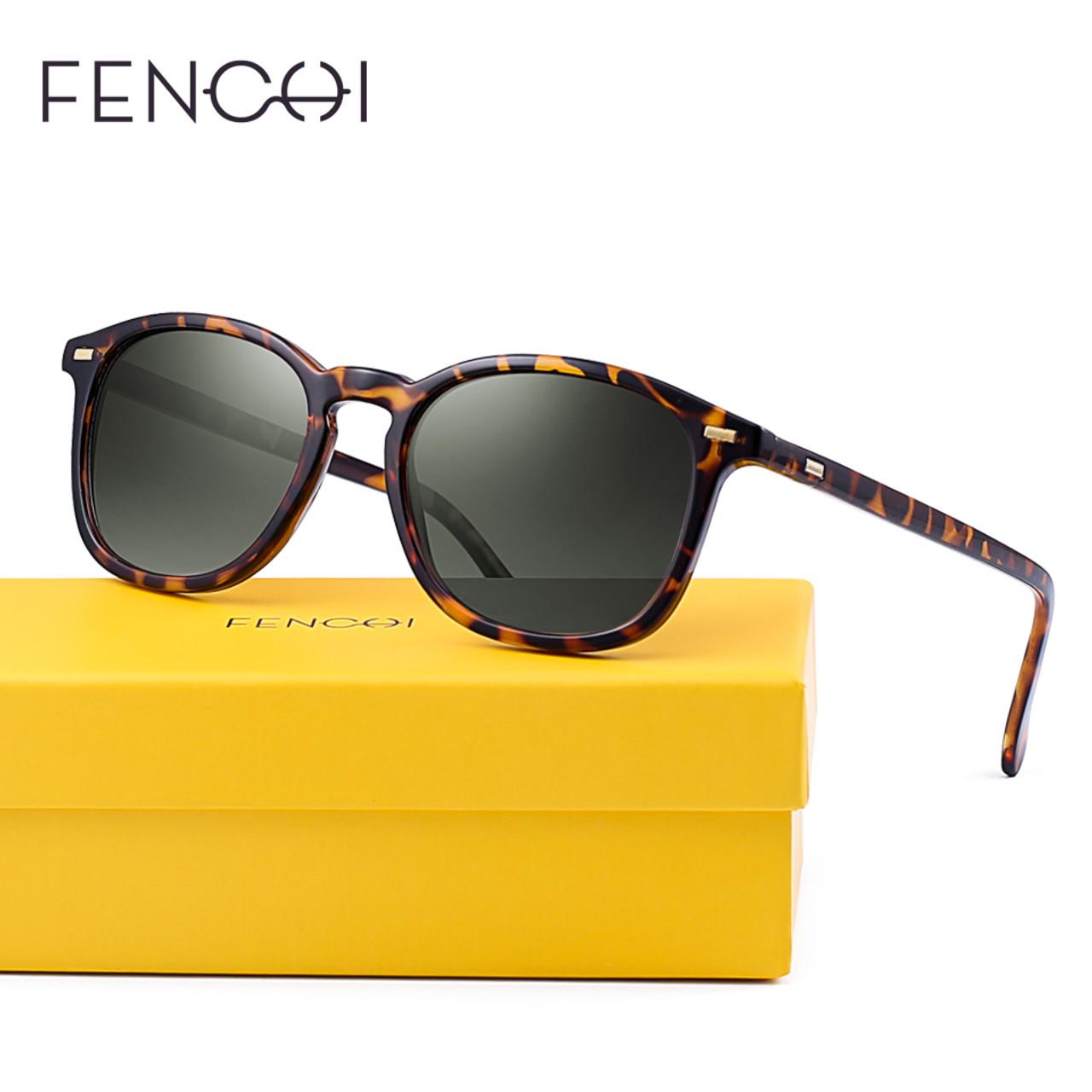 ad999f39b2 ... FENCHI Fashion New Square Polarized Sunglasses Men Women Vintage Retro  Brand Designer Sun glasses UV400 ...