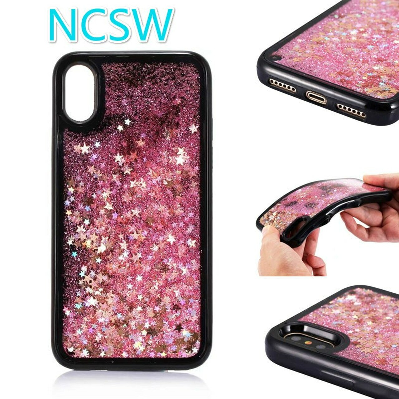 c4b877031ad ... Glitter Star Bling Liquid twinkling Quicksand TPU Phone Case For  Samsung Galaxy S8 S9 Plus A8 ...