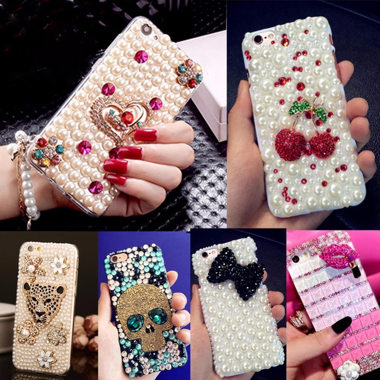 3152d3460da Fashion&Unique DIY Handmade Cover Diamond Bling Acrylic mobile phone  Protective shell Case For Samsung ...