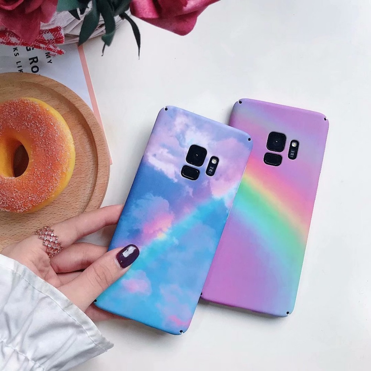 285f1810ce ... s8 s9 Plus Case For Samsung Galaxy s7 Edge Case Cover Hard Marble Coque Phone  Cases ...