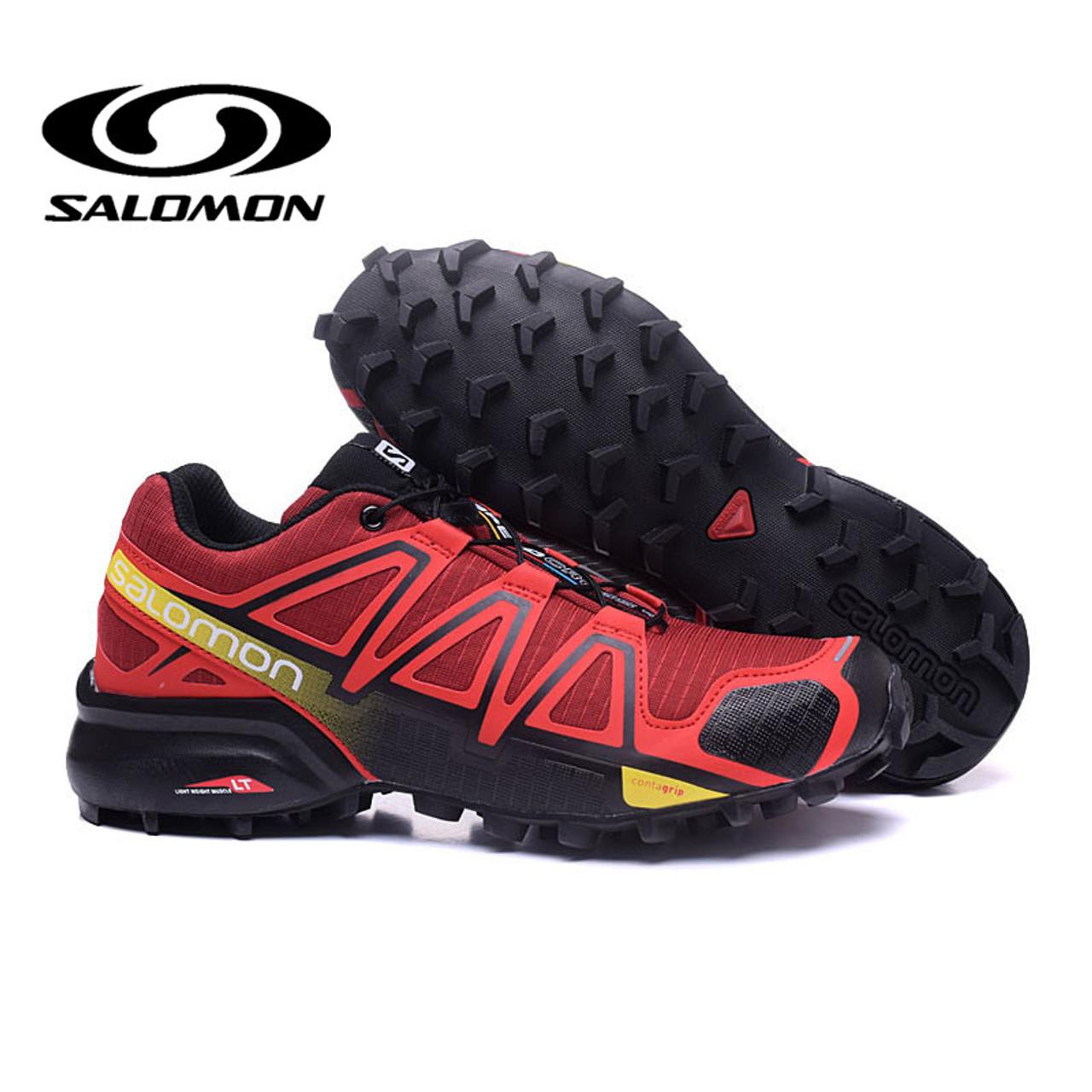 2019 New arrivel Salomon Shoes Men Speed Cross 4 CS Cross country Outdoor Shoes SPEEDCROSS 4 Eur40 46 Elastic Band Trekking Shoe