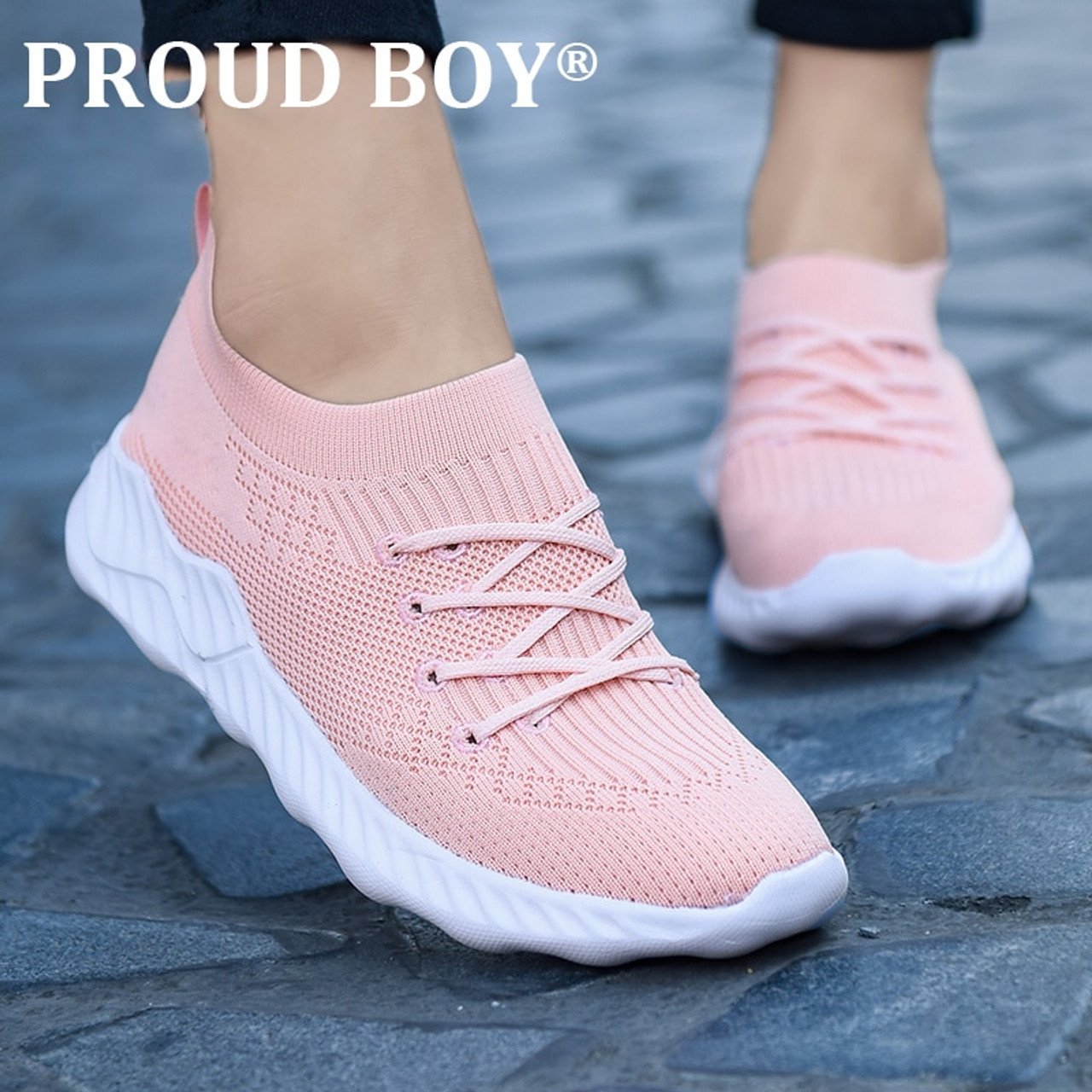 new design running shoes for women slip on Comfortable Mesh Sport shoes Outdoor Walking Jogging Socks sneakers Cushioned Sole