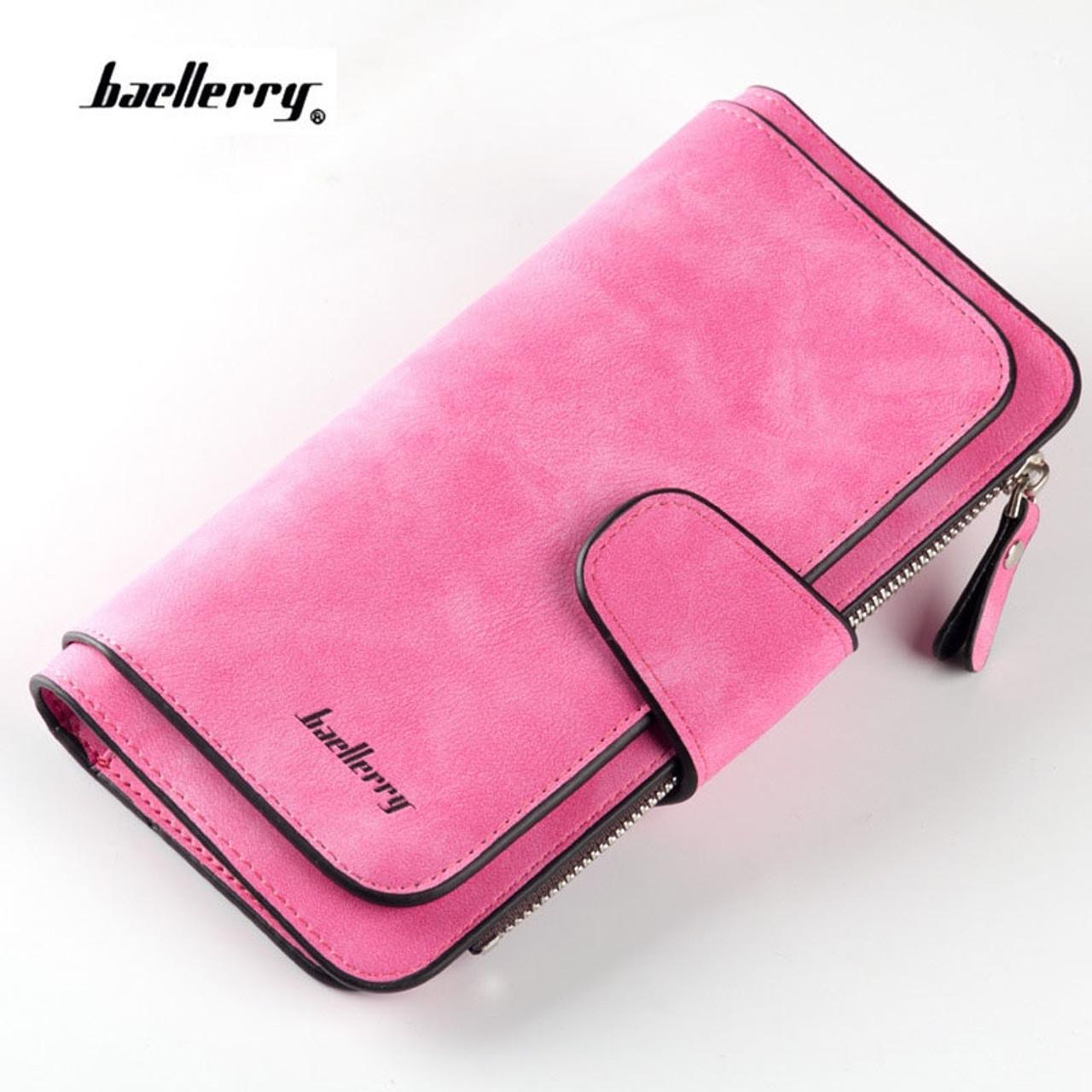 2018 New Fashion Women Wallets Drawstring Nubuck Leather Zipper Wallet  Women s Long Design Purse nubuck leather ... 9899f90fe0ef