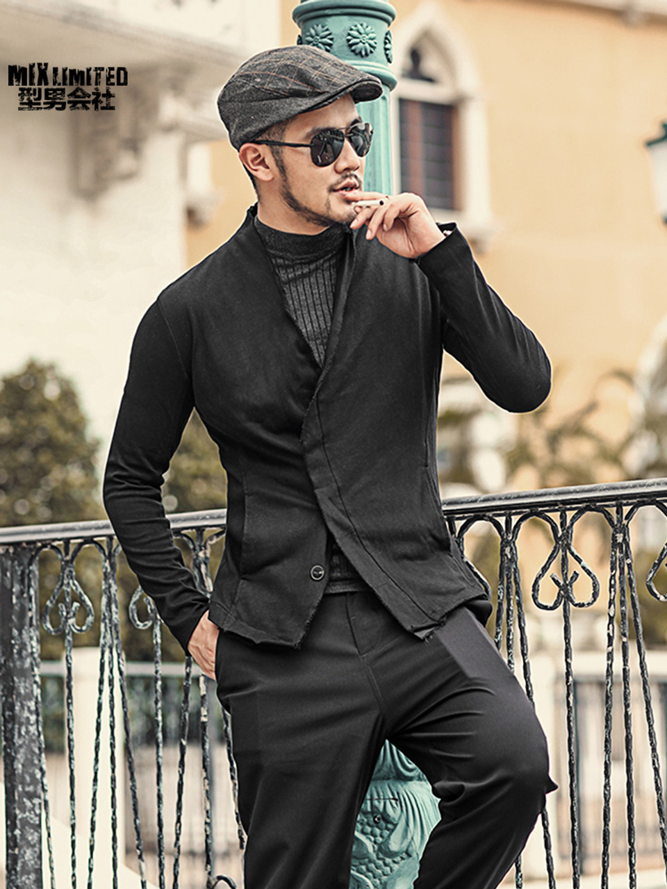 Men Washed European Style Short Black Suit Jacket New Design Metrosexual Man Slim Burr Suit Blazer Fashion Winter Outwear F111 Onshopdeals Com