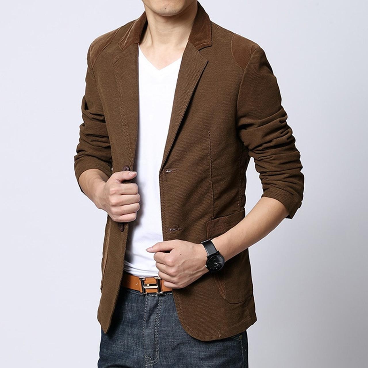 cf7a2bbf6d0 ... Mens blazer Casual khaki Slim Fit Plus Size 4XL 5XL 6XL Suits Jacket  Blazer Men 3 ...
