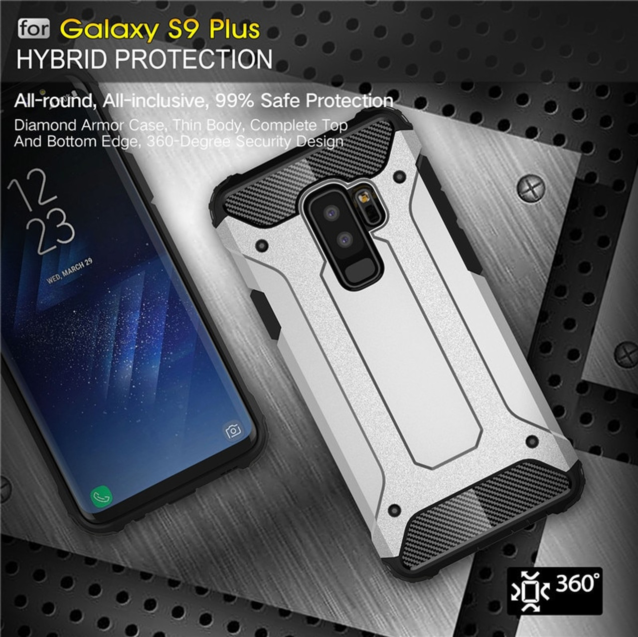 Rubber Armor Case For Samsung Galaxy S8 S9 Plus S7 Edge S5 S6 Note 4 5 8 9  A6 A7 A8 J8 J4 J6 Prime 2018 Hard PC Shockproof Cover