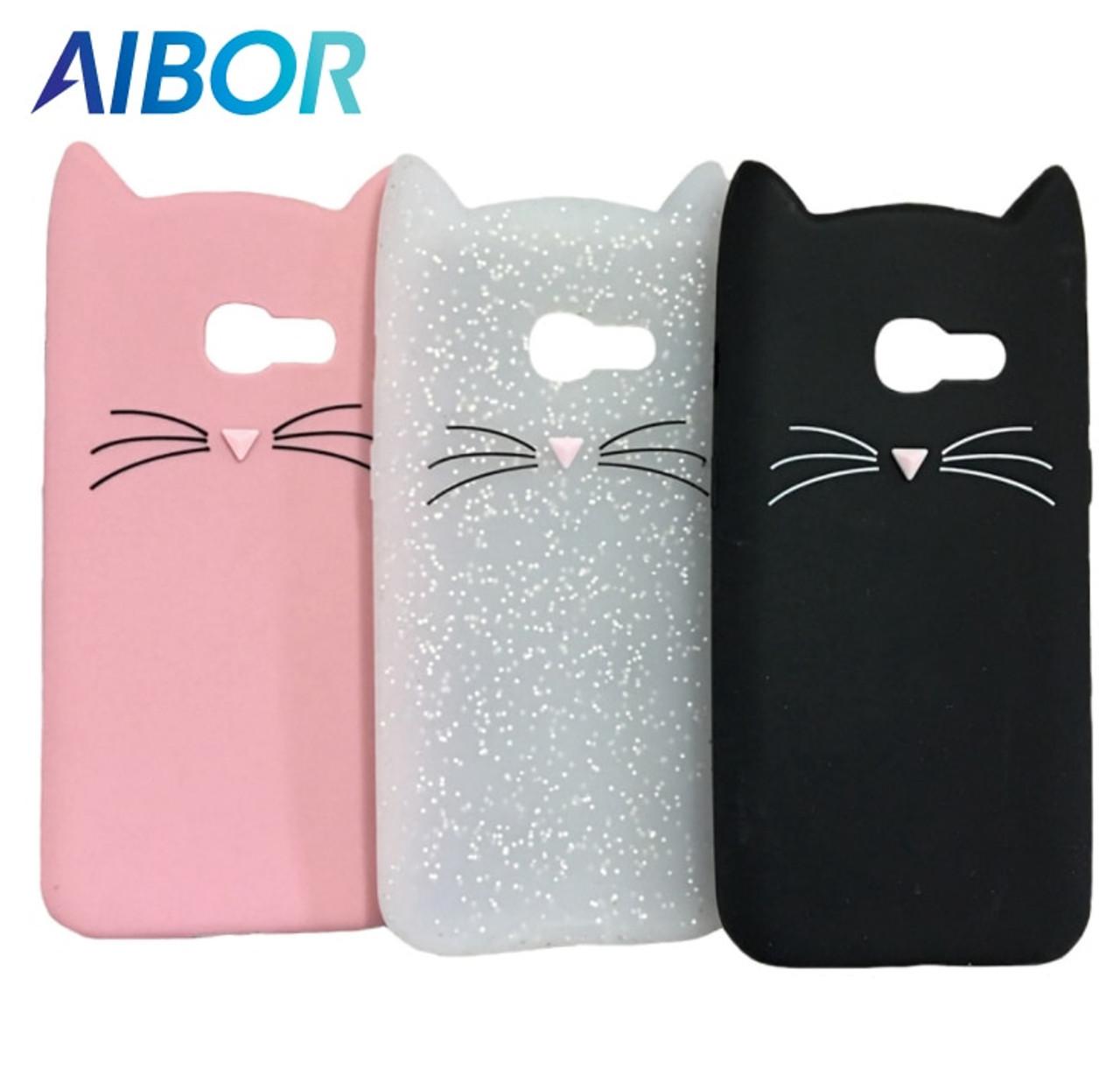 reputable site 272ee 23aa8 3D cute cartoon Mustache beard cat Ear soft silicone case for Samsung  Galaxy A5 A3 2017/16 S8 S9 J4 J6 J8 A6 A8 Plus 2018 cover