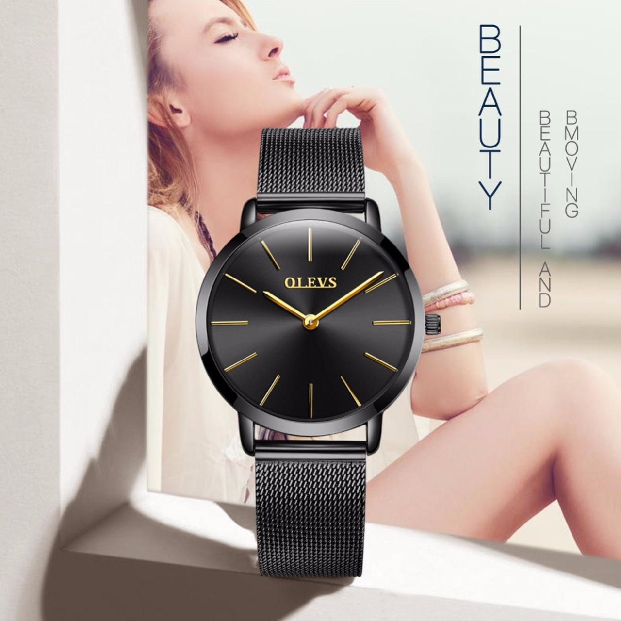 Women Watches Luxury Olevs Brand Fashion Quartz Ladies Watch Clock Rose Gold Dress Casual Girl Relogio Feminino Wristwatch Saat Onshopdeals Com