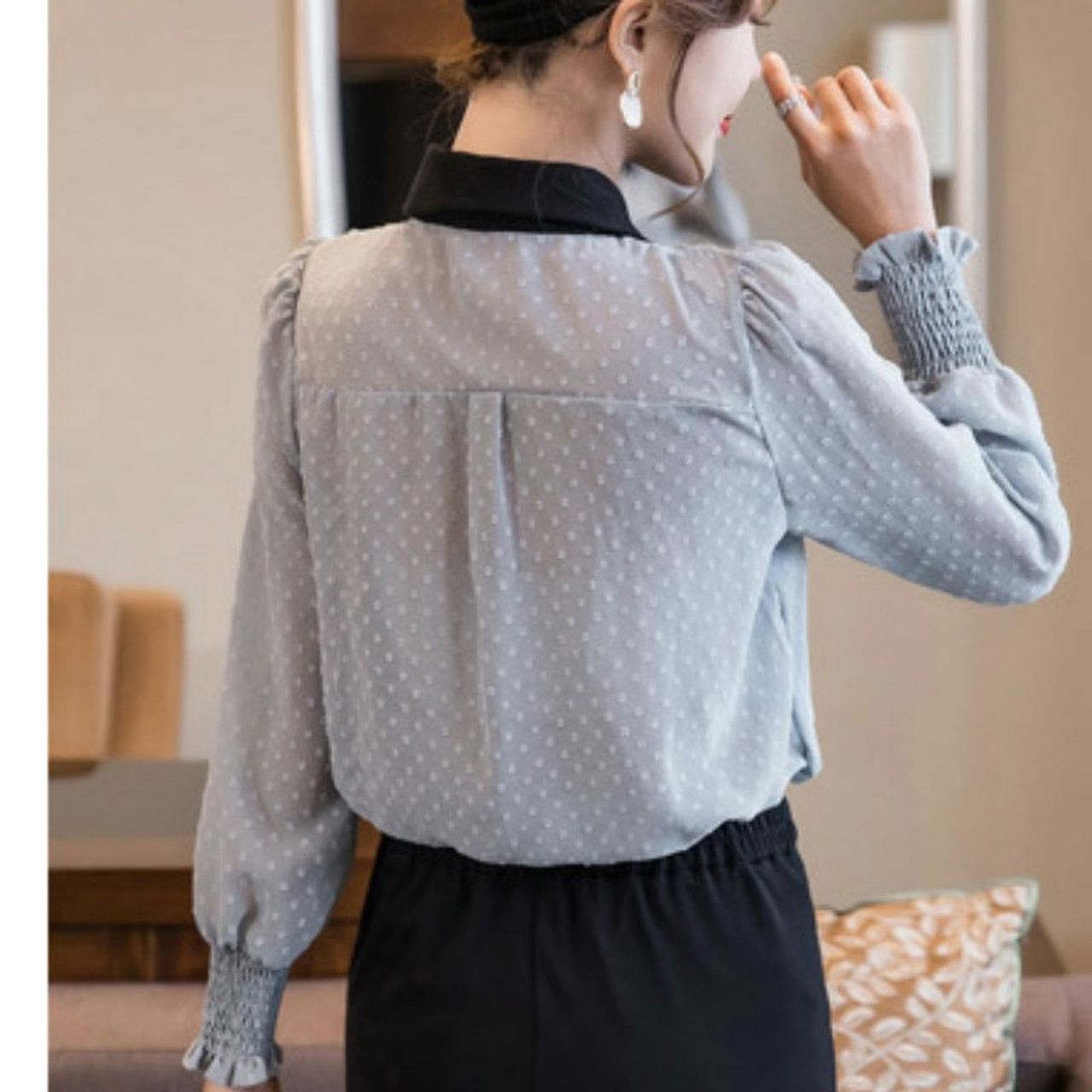 e7d31c92263e7 ... Fashion Womens Tops And Blouses 2019 Long Sleeve Shirt Women Blusa  Feminina Ladies Tops Plus Size ...