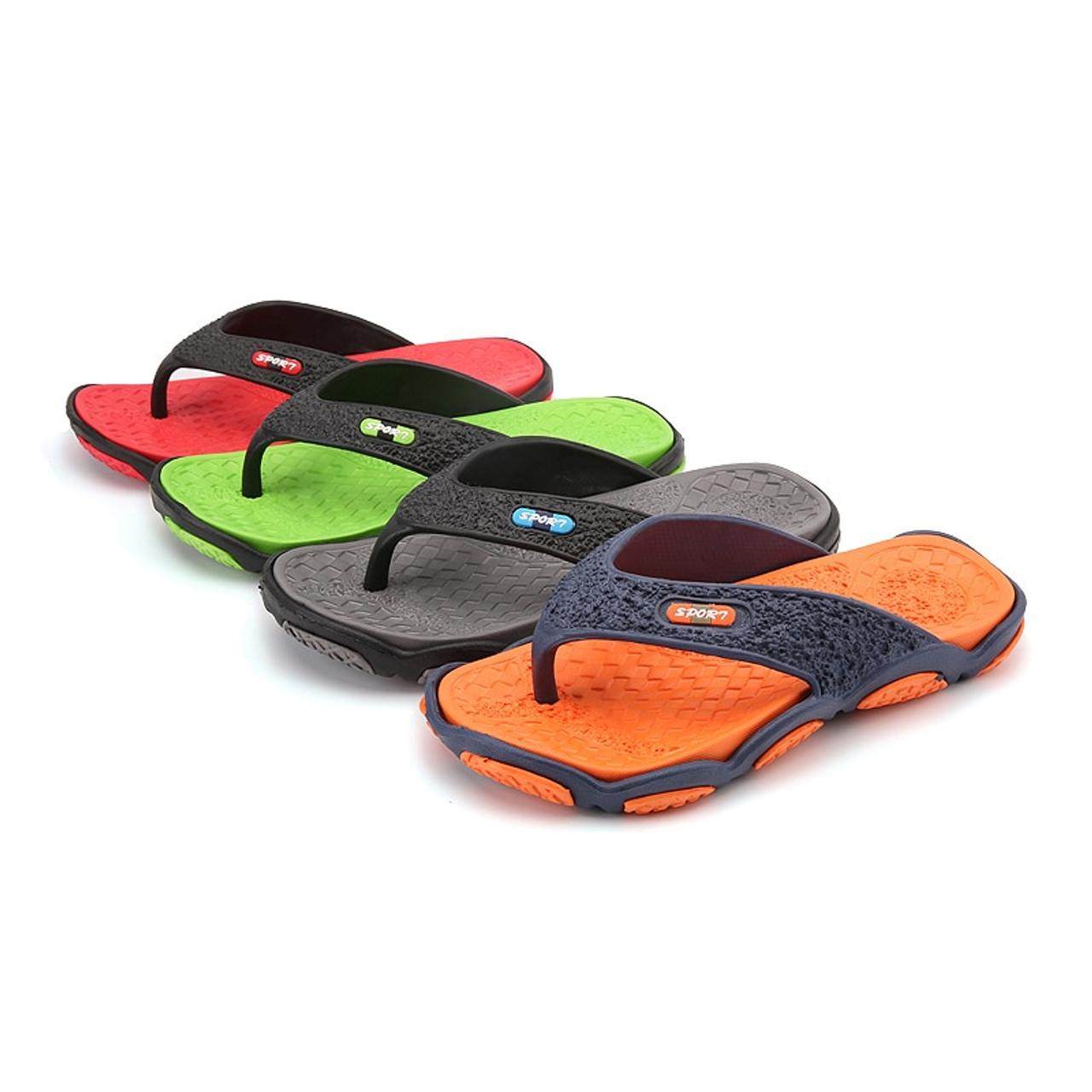 568c7b5af70513 ... CcharmiX Mens Flip Flops Summer Men s New Style Rubber Soft Shoes  Outdoor Beach Men s Slippers Massage ...