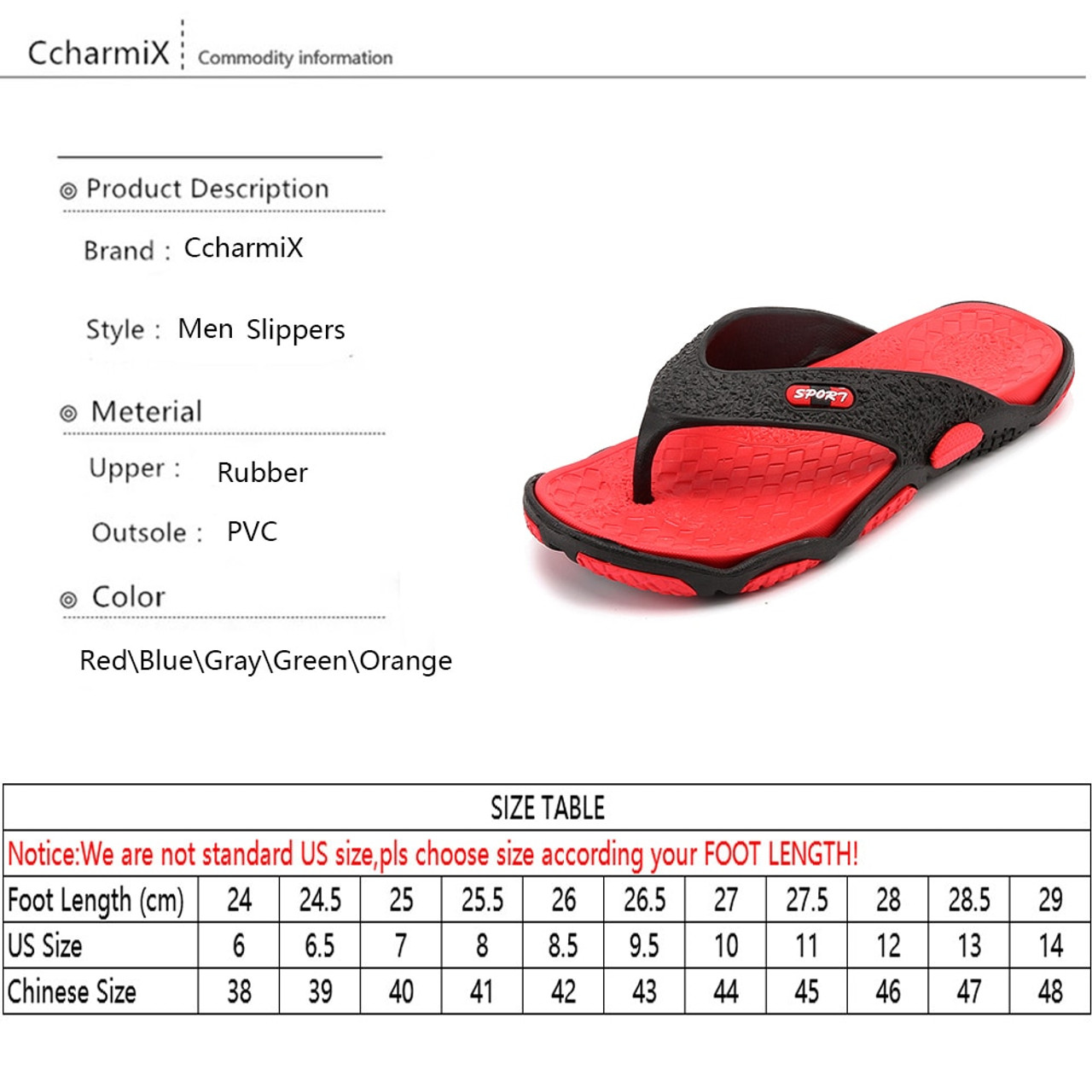 bb24d9ee37d829 ... CcharmiX Mens Flip Flops Summer Men s New Style Rubber Soft Shoes  Outdoor Beach Men s Slippers Massage ...
