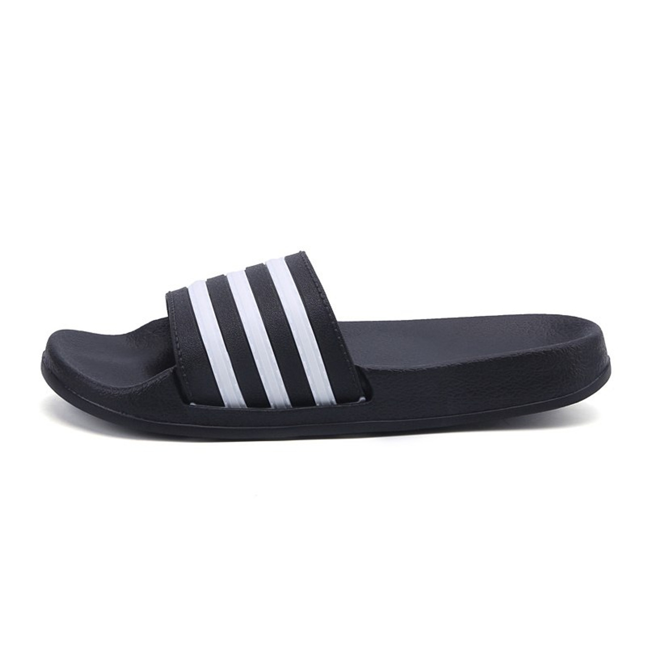 1f03598d463b ... 2018 New Summer Beach Slippers Men Women Fashion Stripe Flat Bath Home  Slipers Male Shoes Summer ...