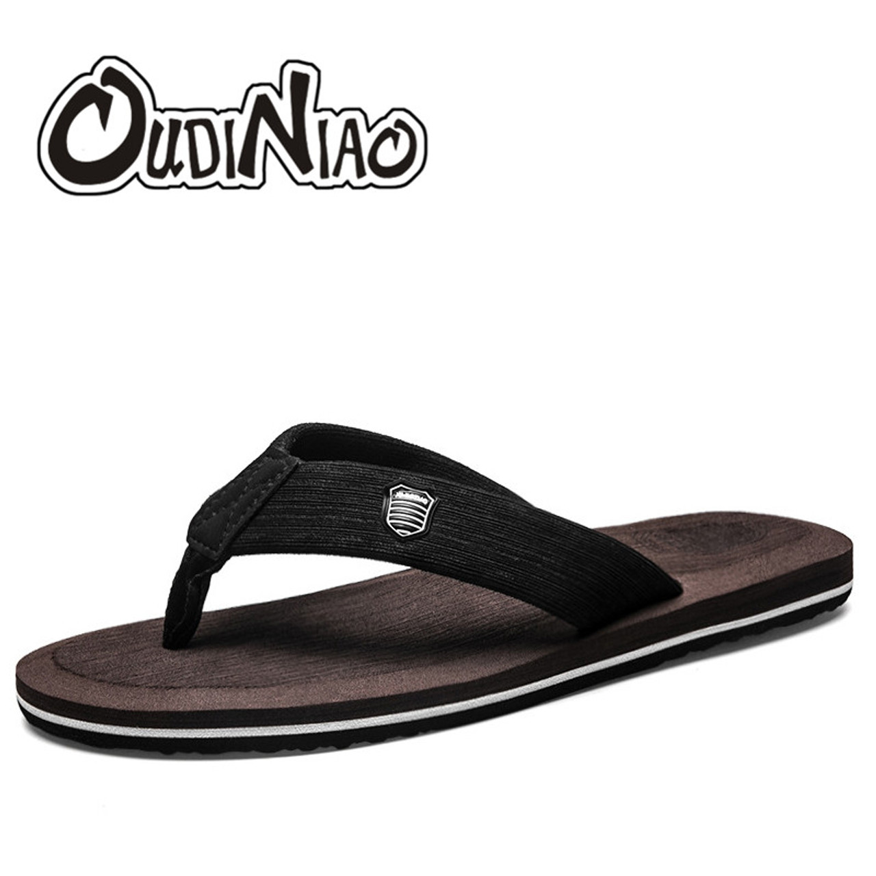 14cdbfb2f43fcc ... OUDINIAO Outside Home Slippers Men Summer Fashion 2018 Solid Slip On Mens  Shoes Flip Flops EVA ...