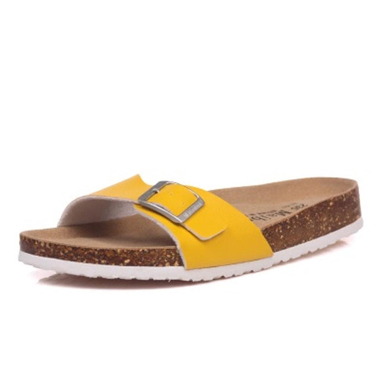 3df4a75ced7c67 ... Mvp Boy 2018 Summer Cork Slipper Sandals Men Casual Beach Mixed Color Flip  Flops Slides Shoe ...