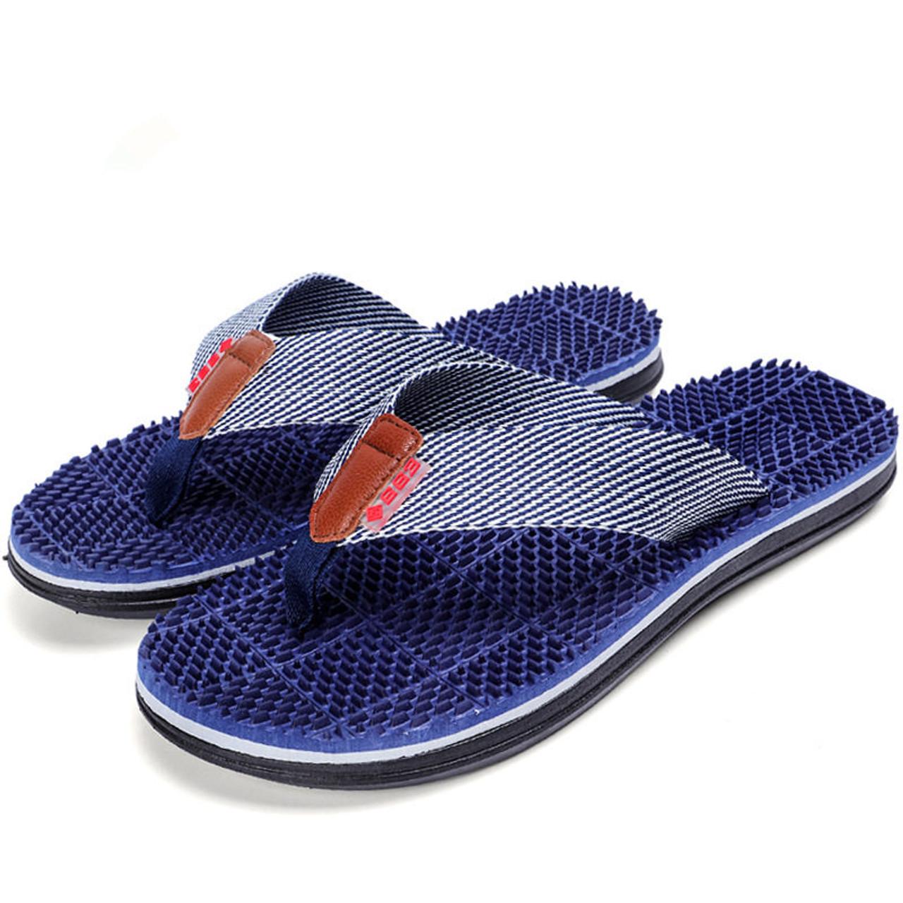 2a98ece267c3 Men Slippers Summer Flat 2018 Summer Men Shoes Breathable Beach Slippers  Wedge Black White Flip Flops ...