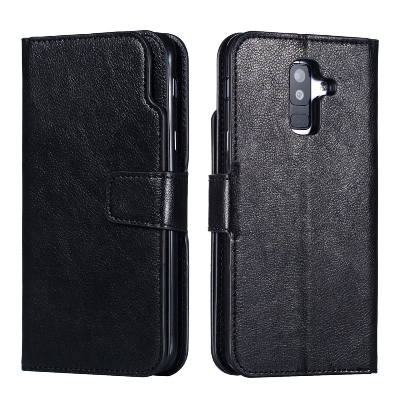 best service f77ee 19fa7 Leather case For Samsung Galaxy A8 A6 Plus A7 2018 Case Cover Wallet Magnet  Flip Phone cases For Samsung Galaxy J4 J6 Plus Case