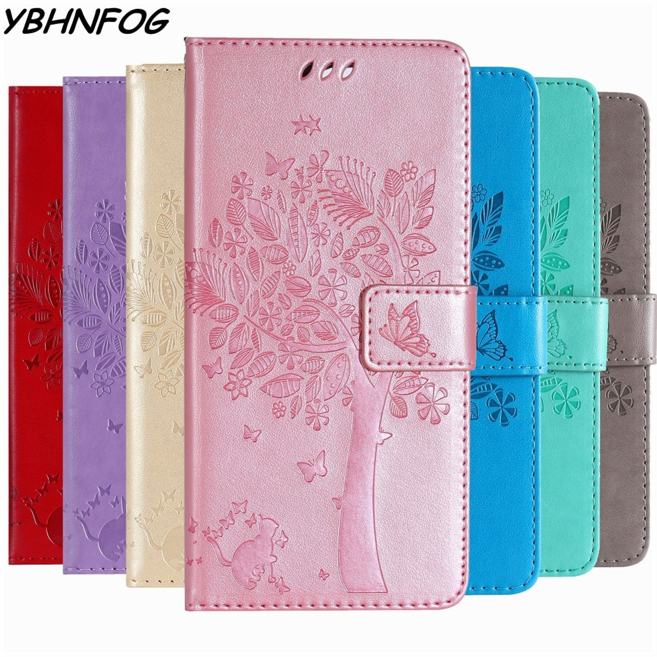 3f5b4448e46 ... PU Leather Flip Cover Wallet Phone Case For Coque Samsung Galaxy J4 J6  A6 A8 Plus ...
