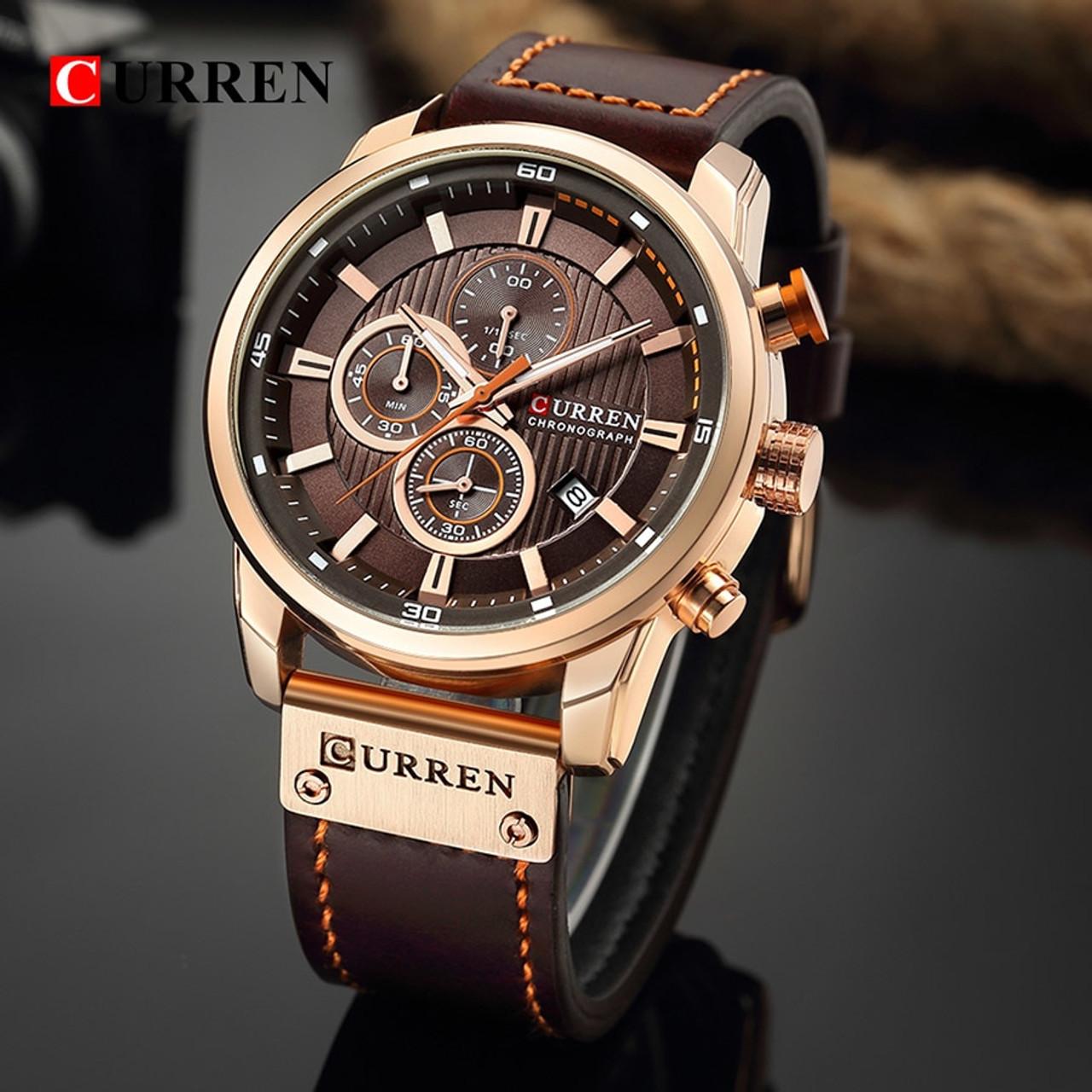 6513be284 Curren Watch Top Brand Man Watches with Chronograph Sport Waterproof Clock Man  Watches Military Luxury Men's Watch Analog Quartz - OnshopDeals.Com