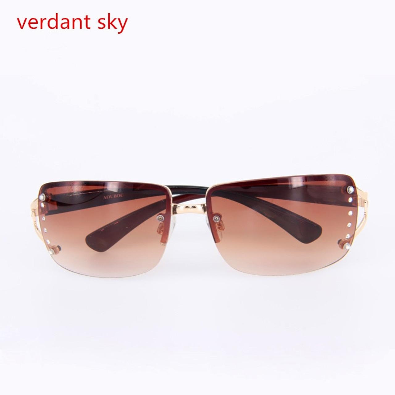 4e4e6022df7 2018 Rimless Sunglasses Women Luxury Diamond Design White Square Frame  Brand Sun Glasses For Women With 100% anti ultraviolet - OnshopDeals.Com