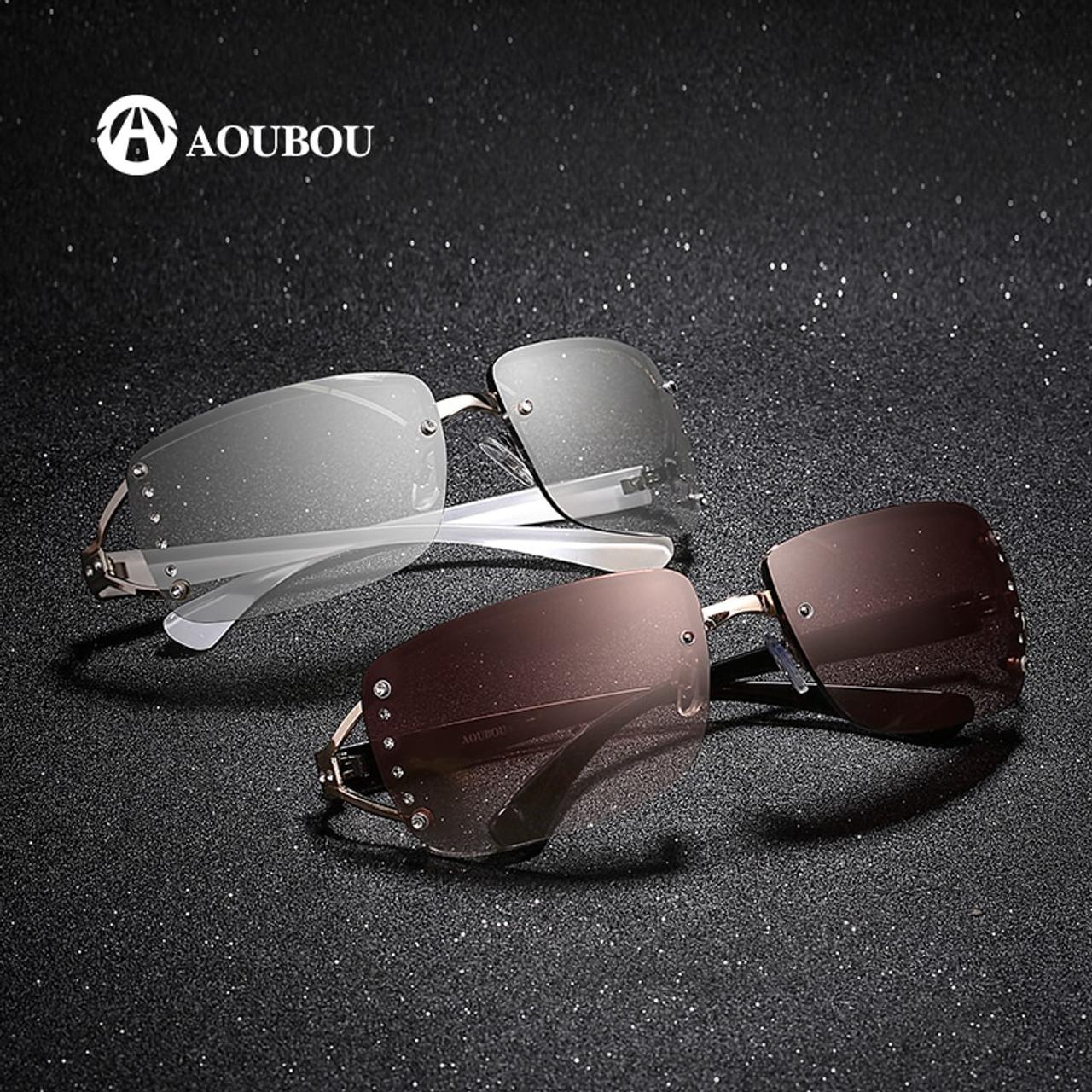 44217620b1 AOUBOU 2019 Vintage Rimless Sunglasses Women Luxury Diamond Design White  Square Frame Brand Sun Glasses For ...