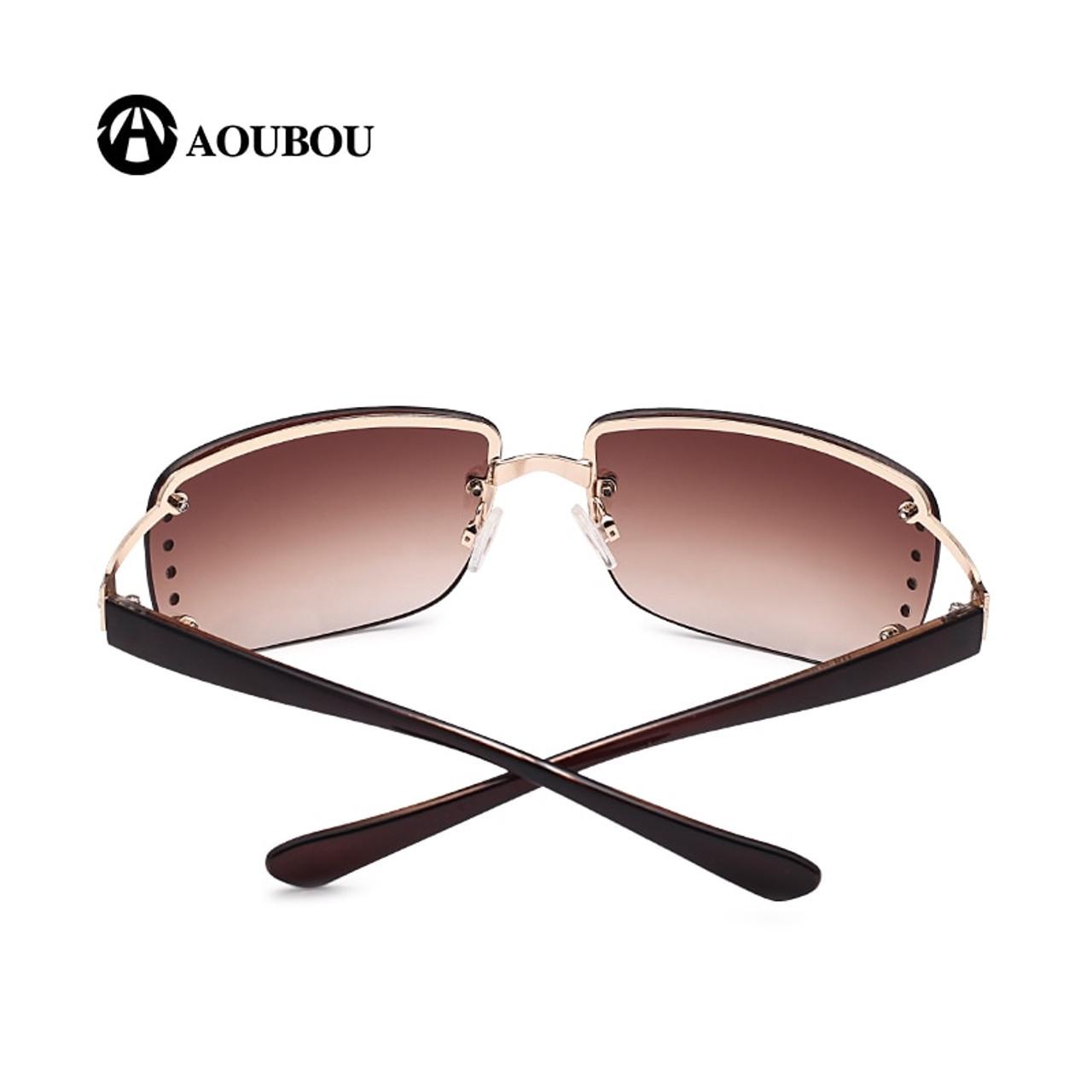 ... AOUBOU 2019 Vintage Rimless Sunglasses Women Luxury Diamond Design  White Square Frame Brand Sun Glasses For ...