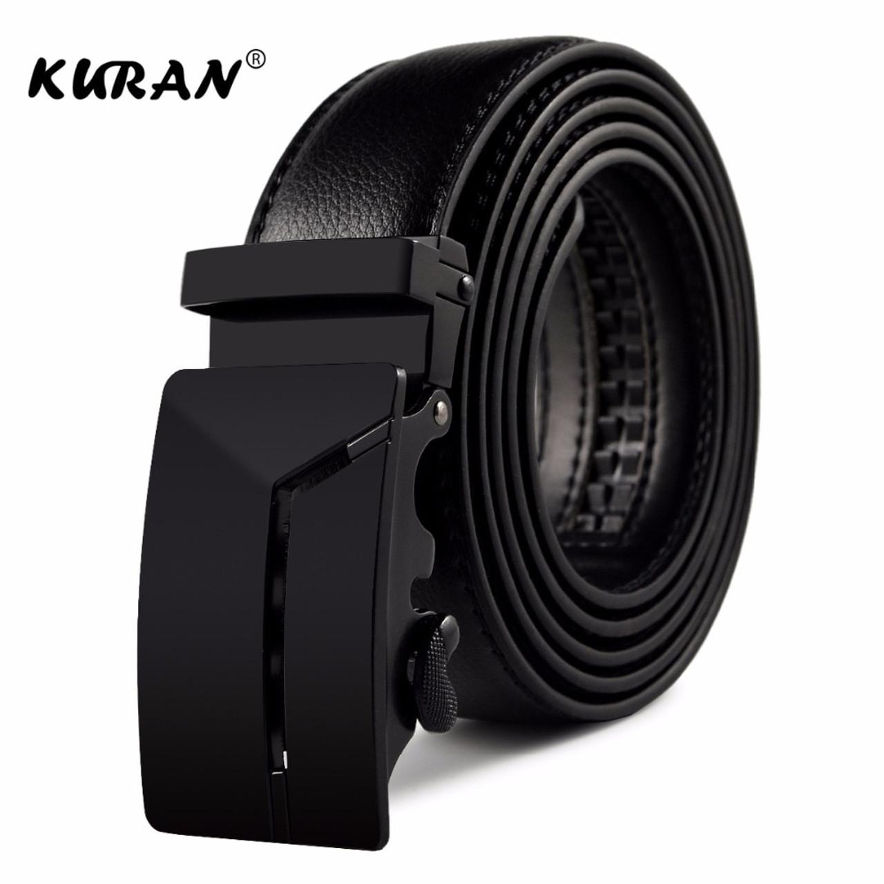 KURAN] New Brand designer mens belts luxury real leather belts for men  metal buckle man Jeans pants genuine leather belt male s - OnshopDeals.Com