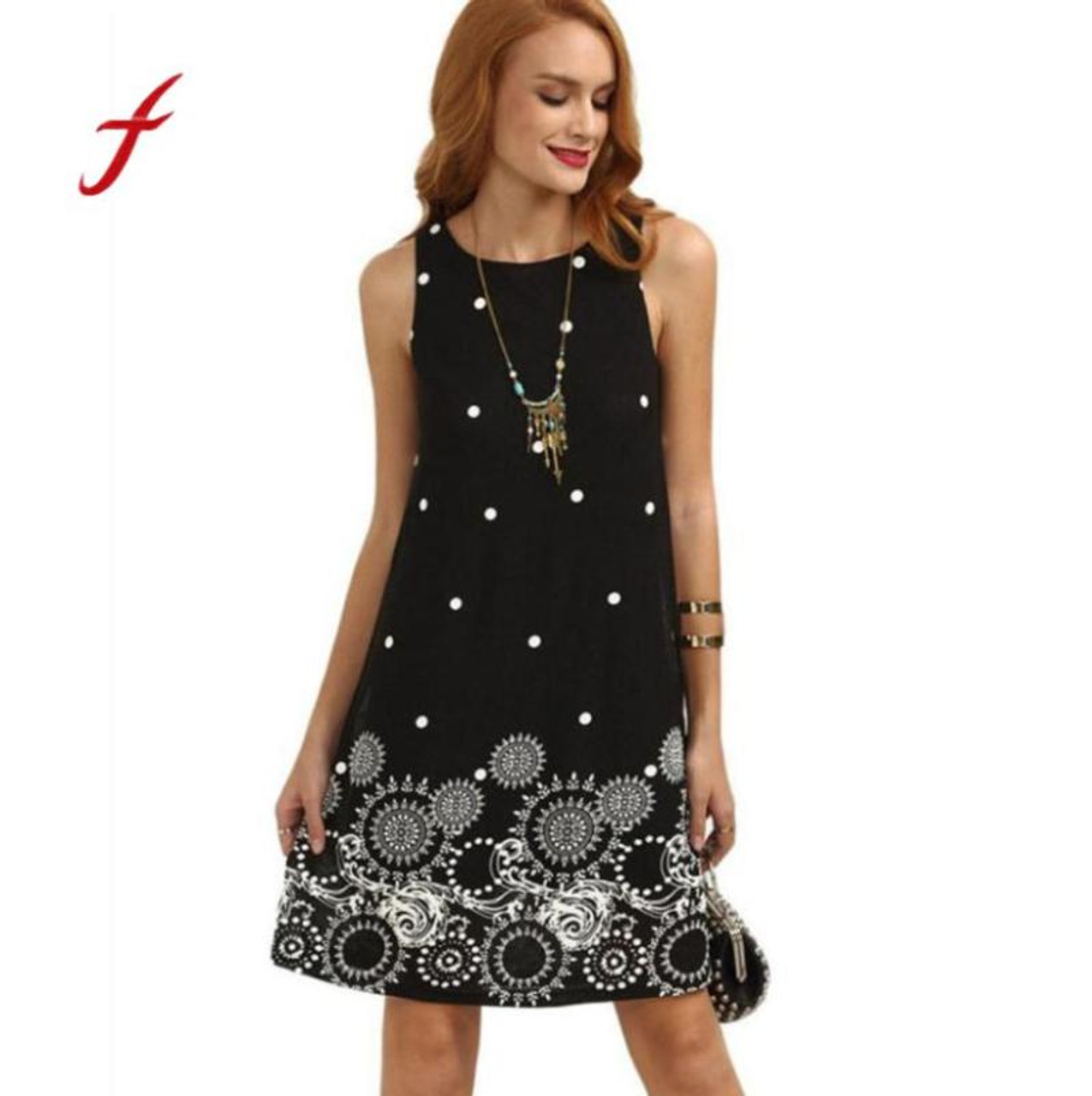 7fd5de38cc Feitong Summer polka dot floral mini chiffon dress Women sexy off shoulder  maix dresses Ladies bohemian black short dress