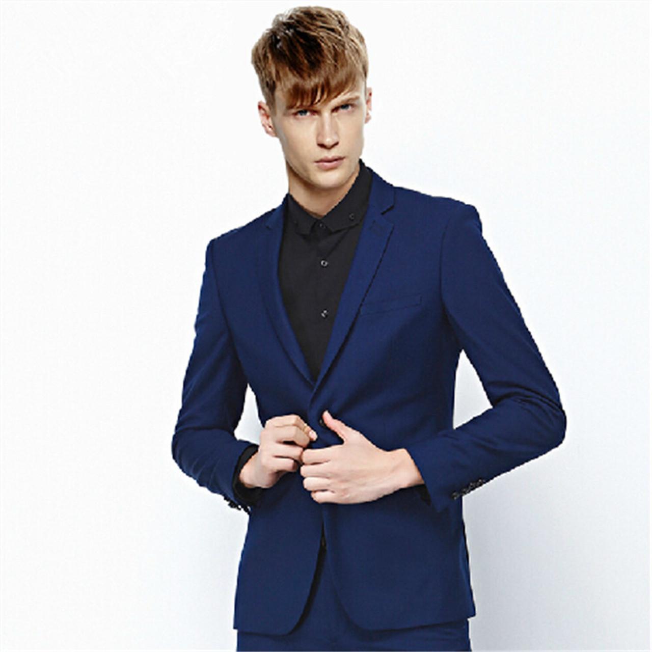 Men Fashion Suits Two Piece Cultivate One S Morality Spring Suits Men Leisure Suit Pure Color Men Fashion Suits Jacket Pants Onshopdeals Com
