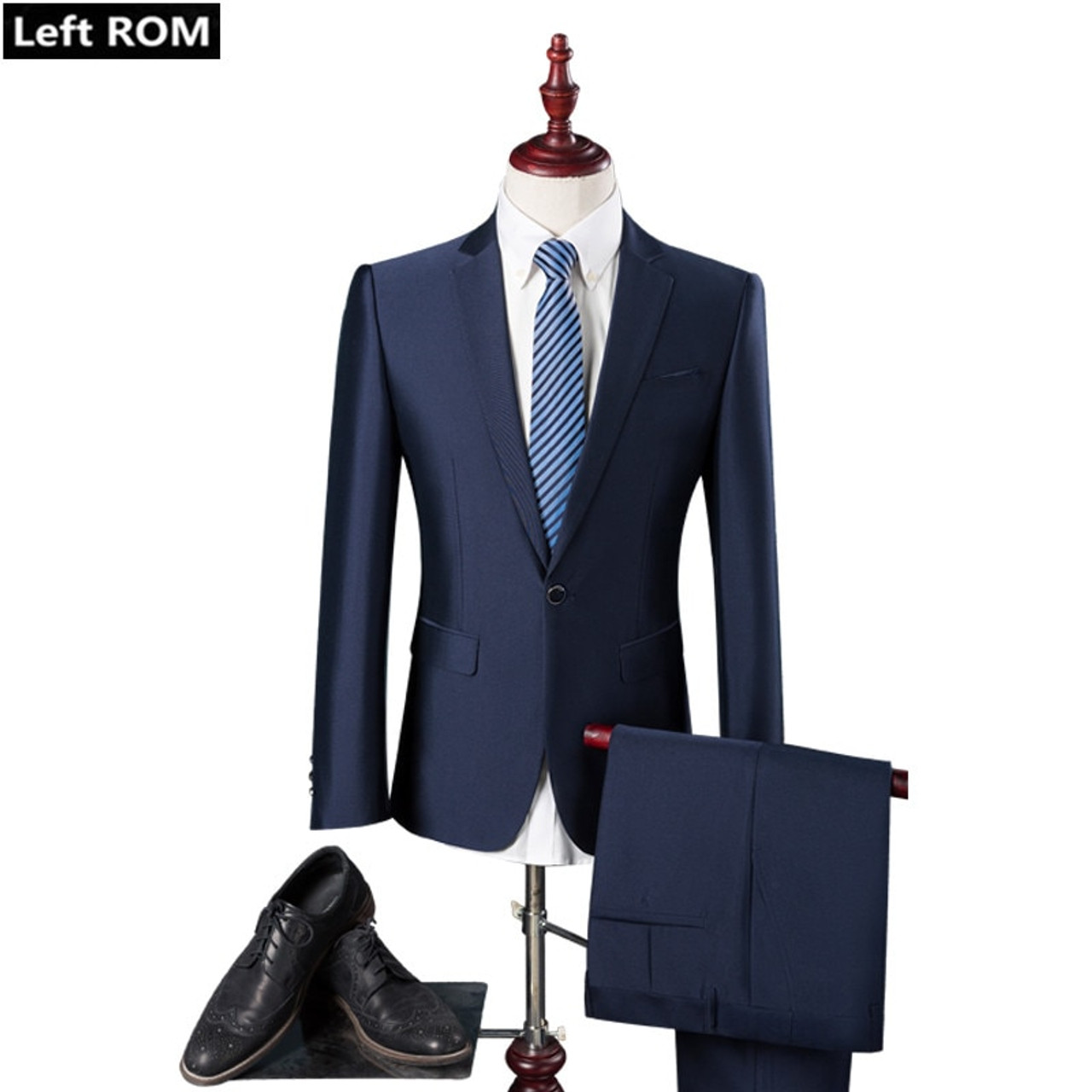 b6989cc925e91 ( Jacket + Pants ) New 2019 Fashion Boutique Pure Color Groom Wedding Dress  Mens Suits / Casual Business Brand Forma Male Suits