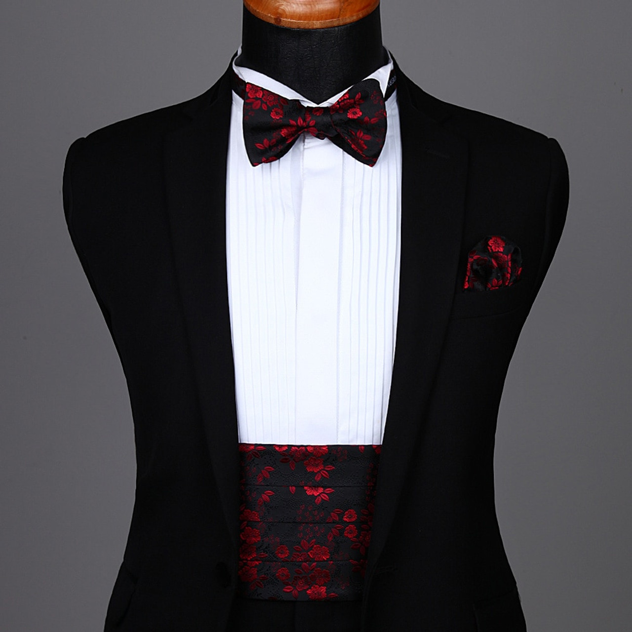 New men/'s polyester paisley burgundy hankie pocket square formal wedding party