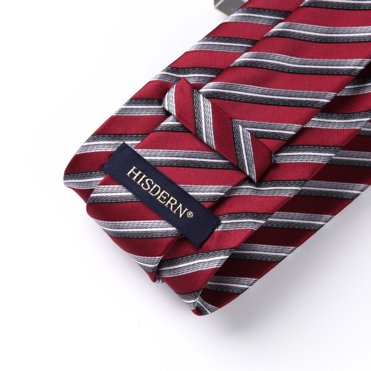 30da560c932b ... Men Extra Long Tie Pocket Square Classic Party Wedding Dot Striped 3.4